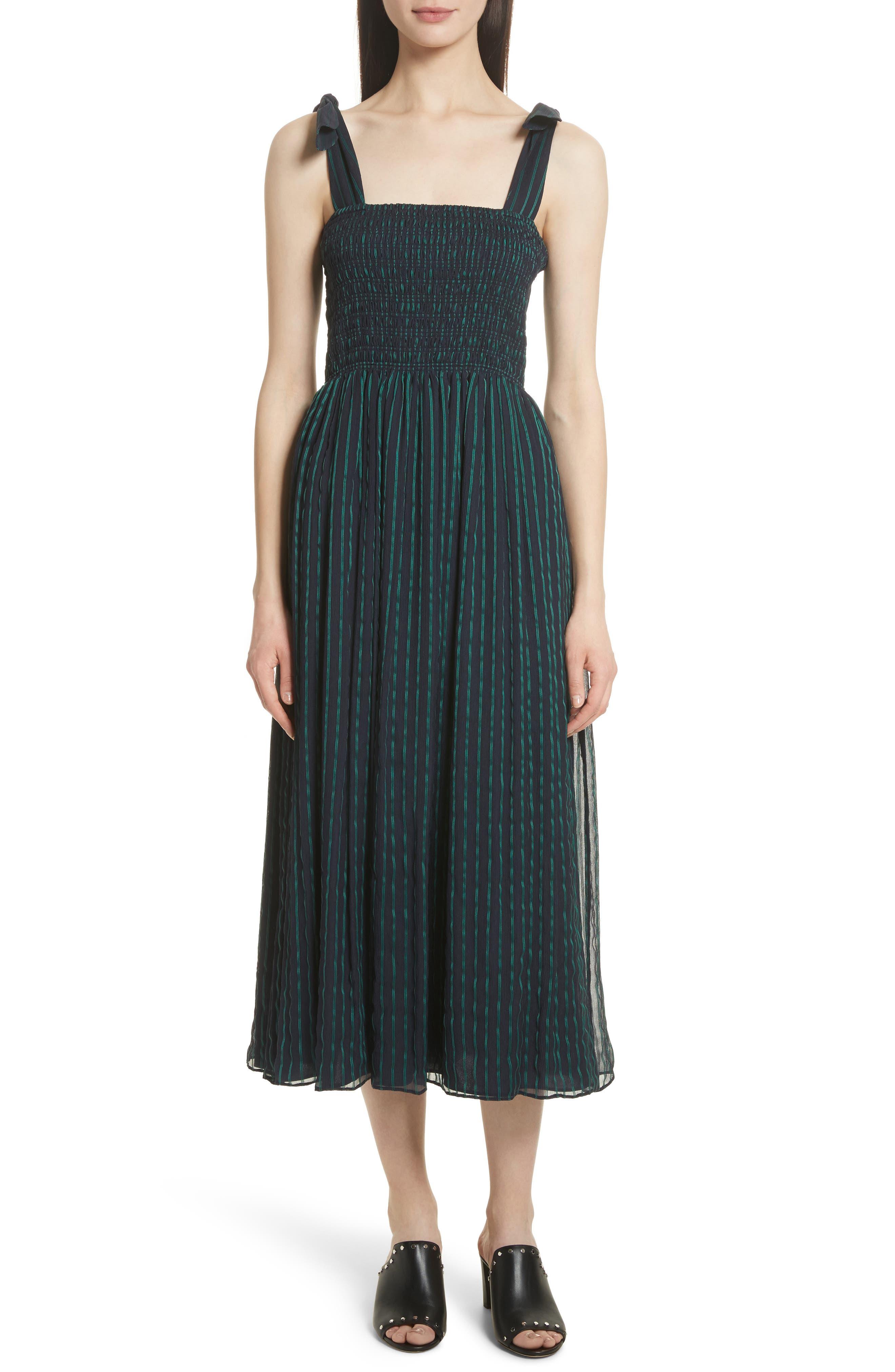 Stripe Chiffon Dress,                         Main,                         color, 470