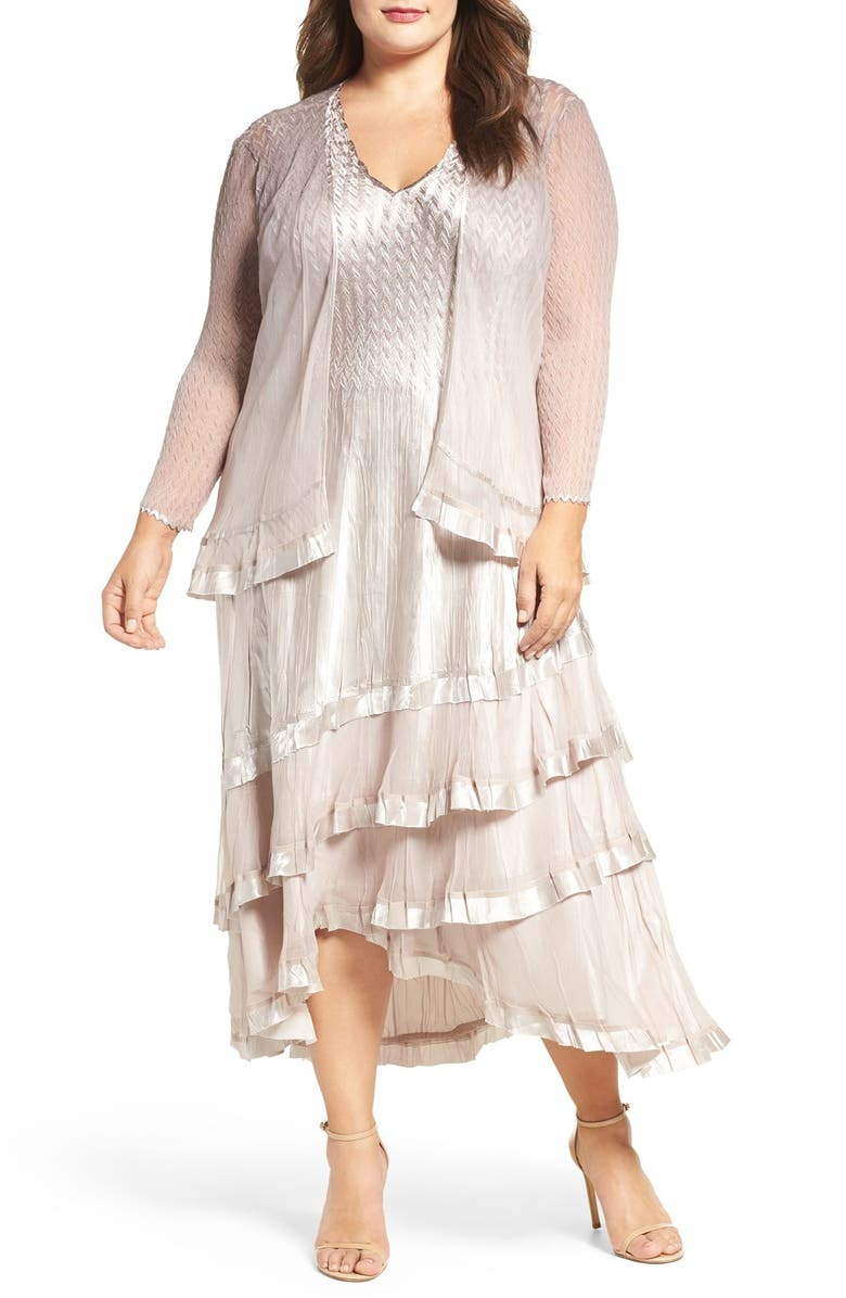 a6d31824a89 Komarov Charmeuse   Chiffon Jacket Dress (Plus Size)