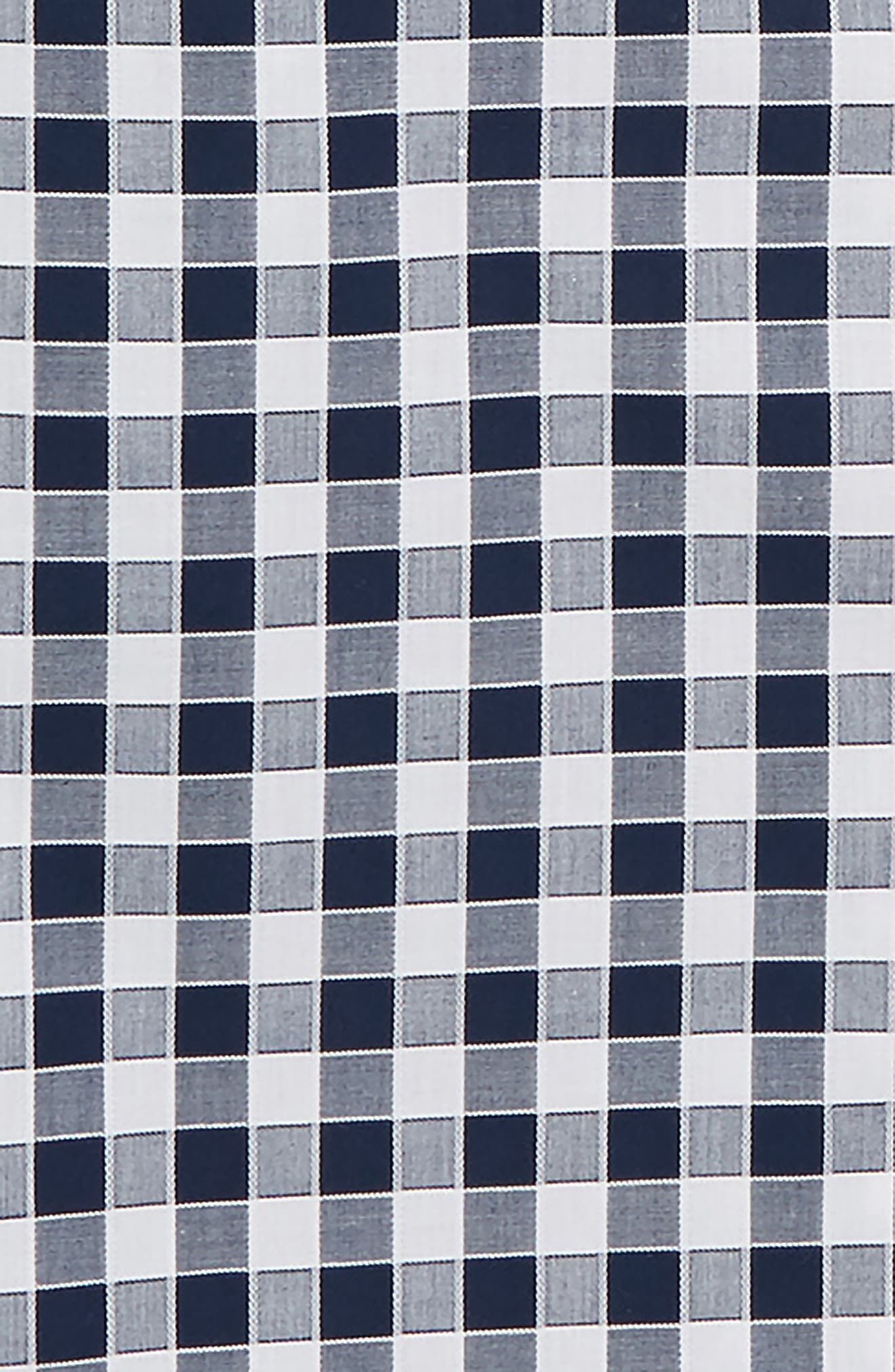 Buffalo Check Dress Shirt,                             Alternate thumbnail 2, color,                             NAVY