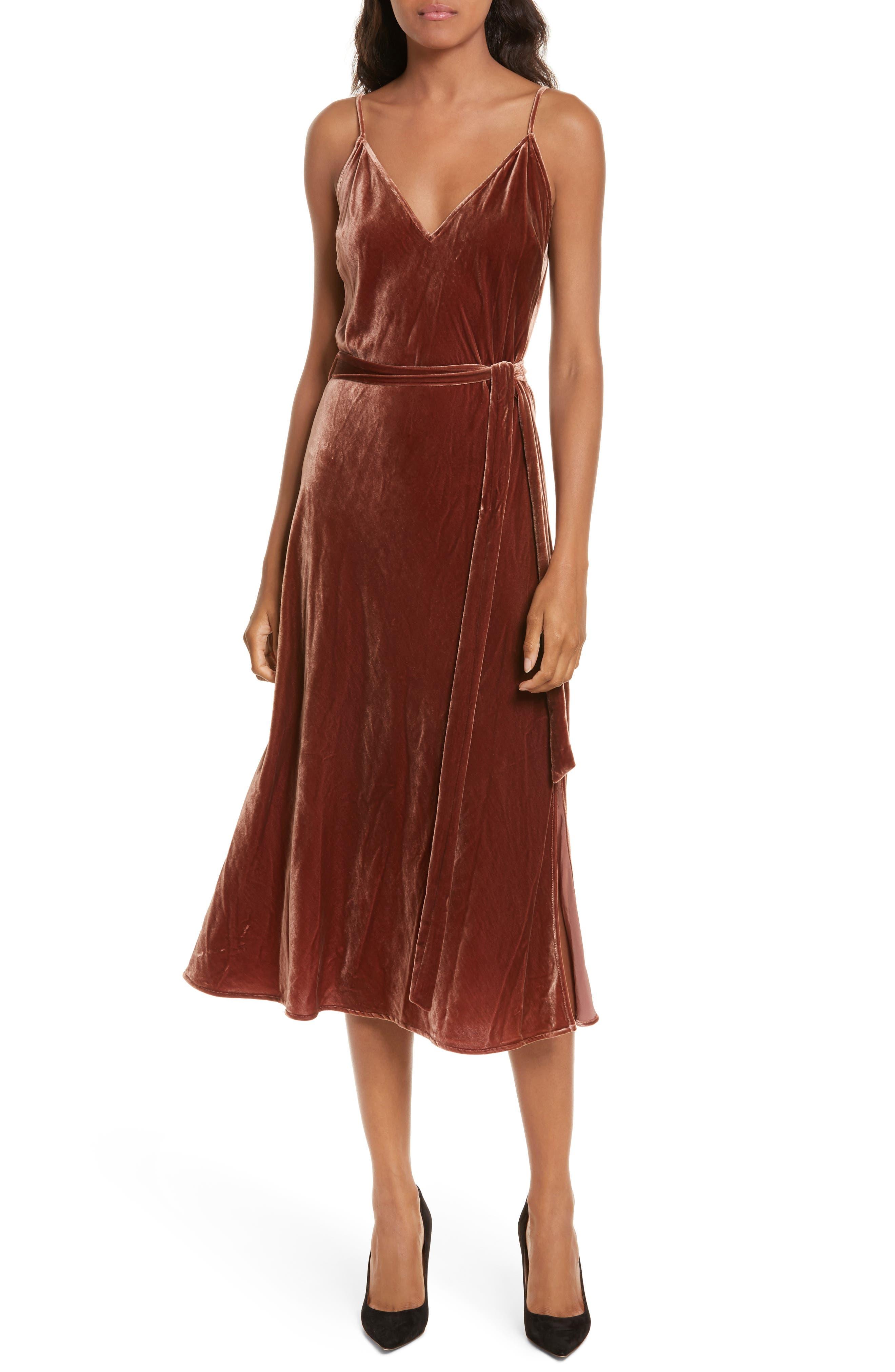 FRAME Velvet Slipdress, Main, color, 650