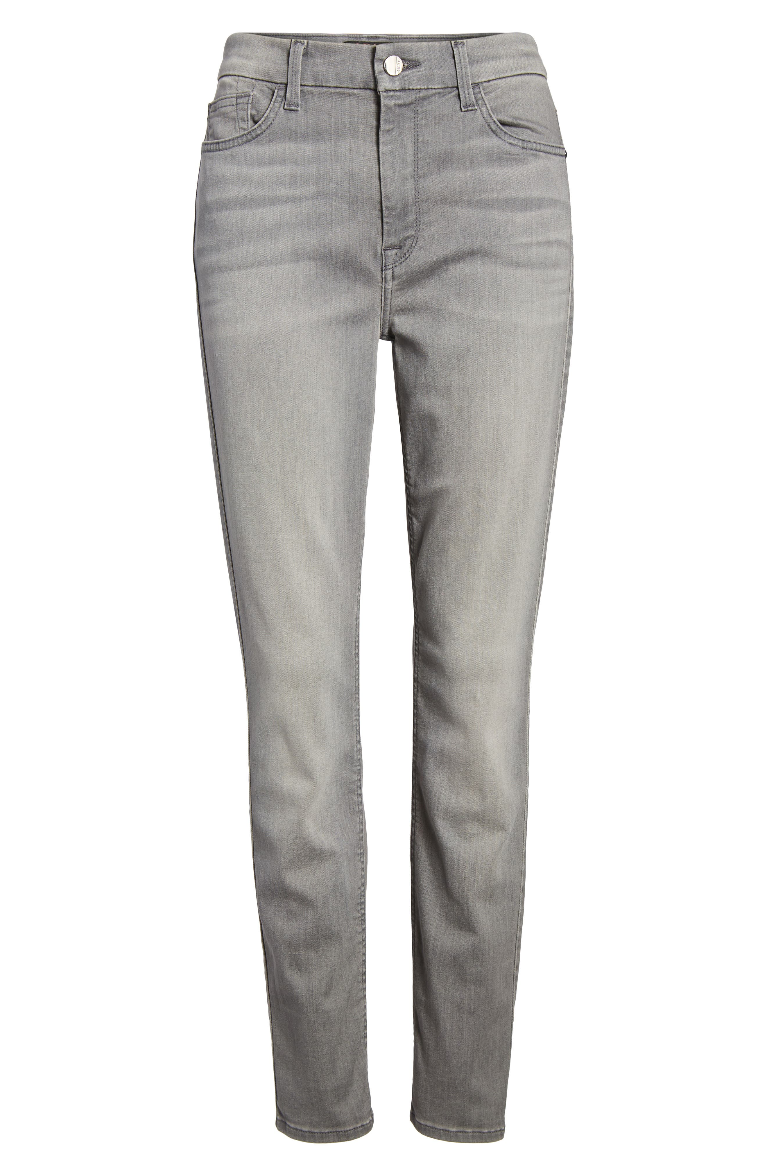 Stretch Ankle Skinny Jeans,                             Alternate thumbnail 6, color,                             RICHE TOUCH MARBLE GREY