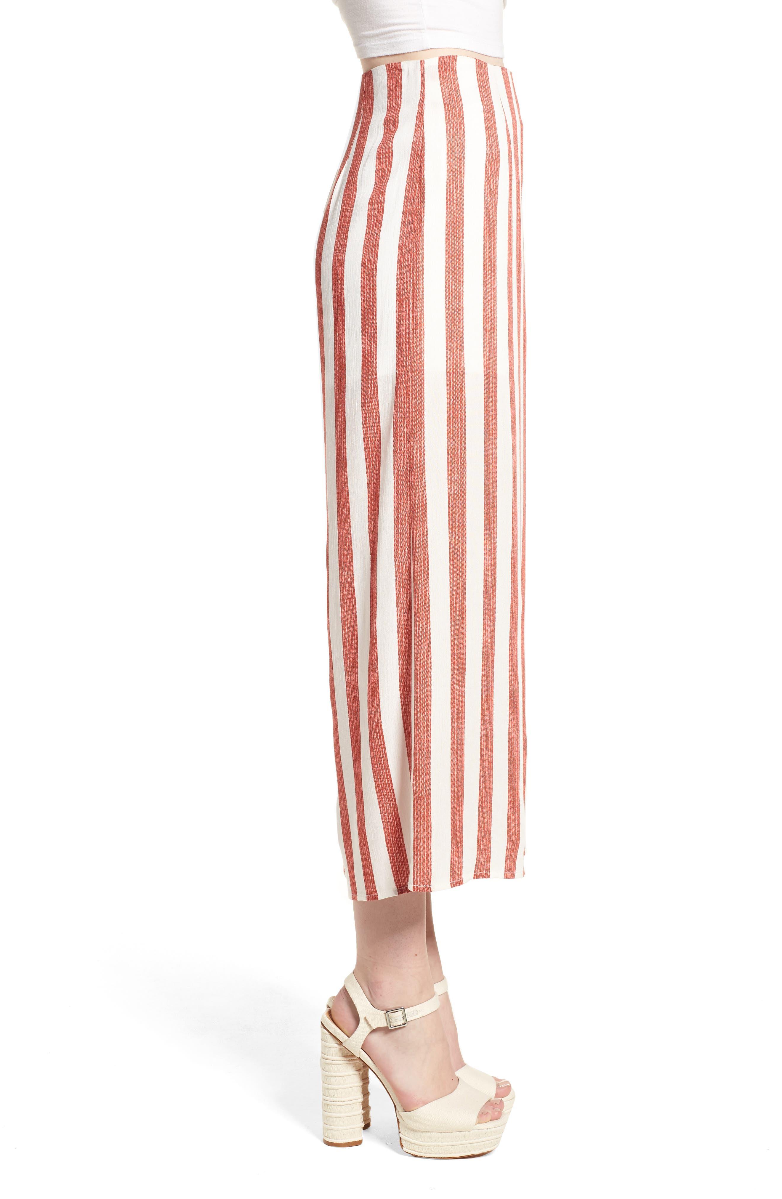 Stripe Culottes,                             Alternate thumbnail 3, color,
