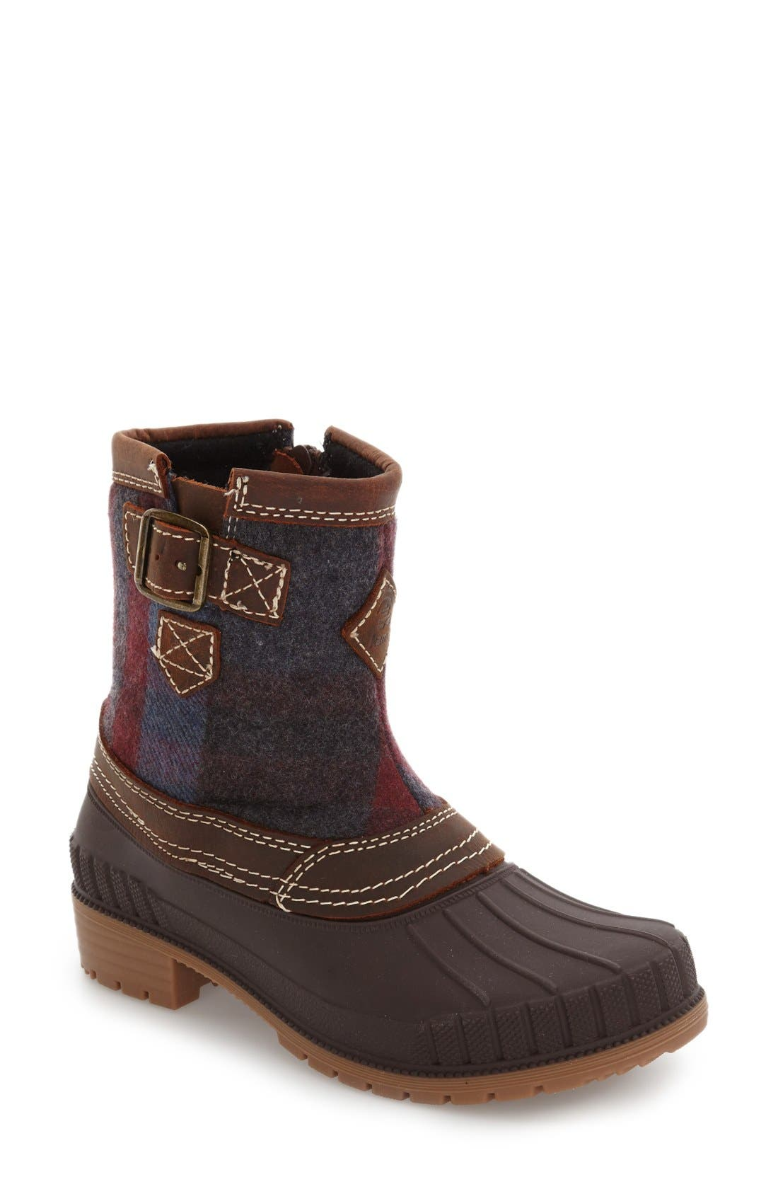 Avelle Waterproof Boot,                             Main thumbnail 1, color,                             DARK BROWN LEATHER