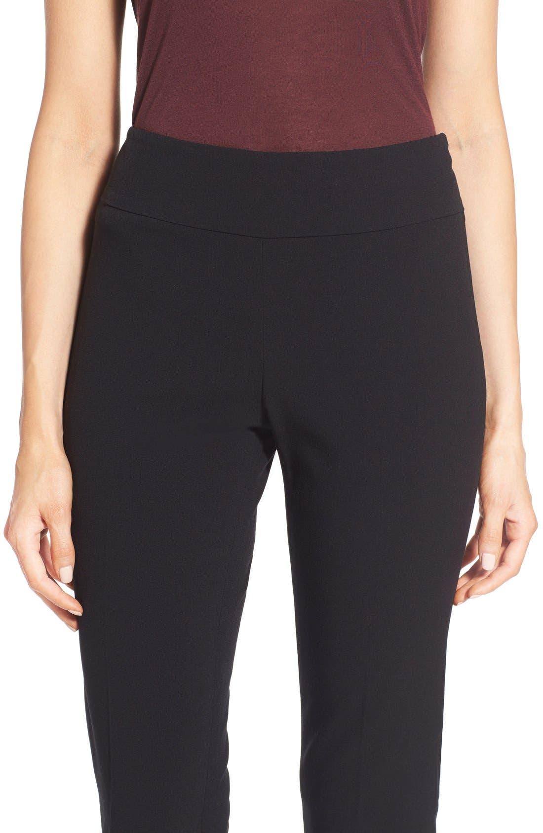 Stretch Knit Slim Leg Pants,                             Alternate thumbnail 4, color,                             004