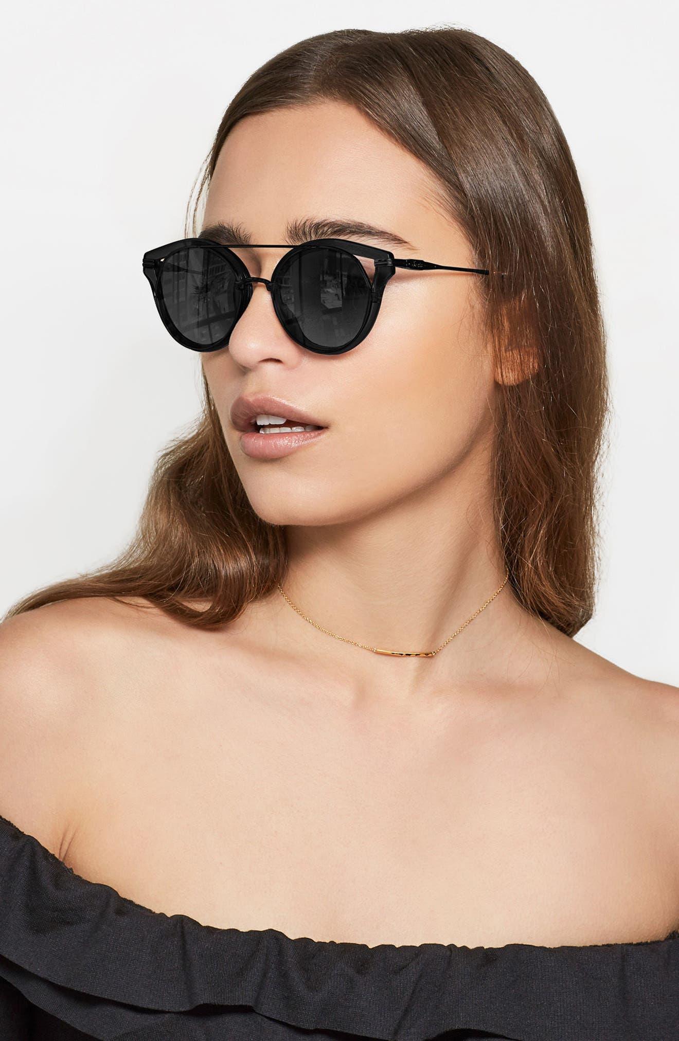 SONIX,                             Preston 51mm Gradient Round Sunglasses,                             Alternate thumbnail 6, color,                             001