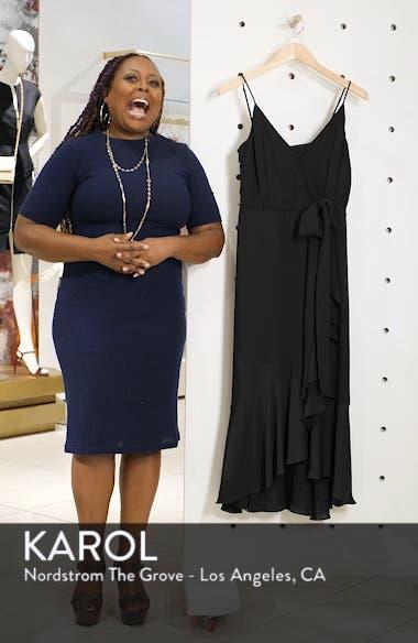 Ruffle Faux Wrap Midi Dress, sales video thumbnail