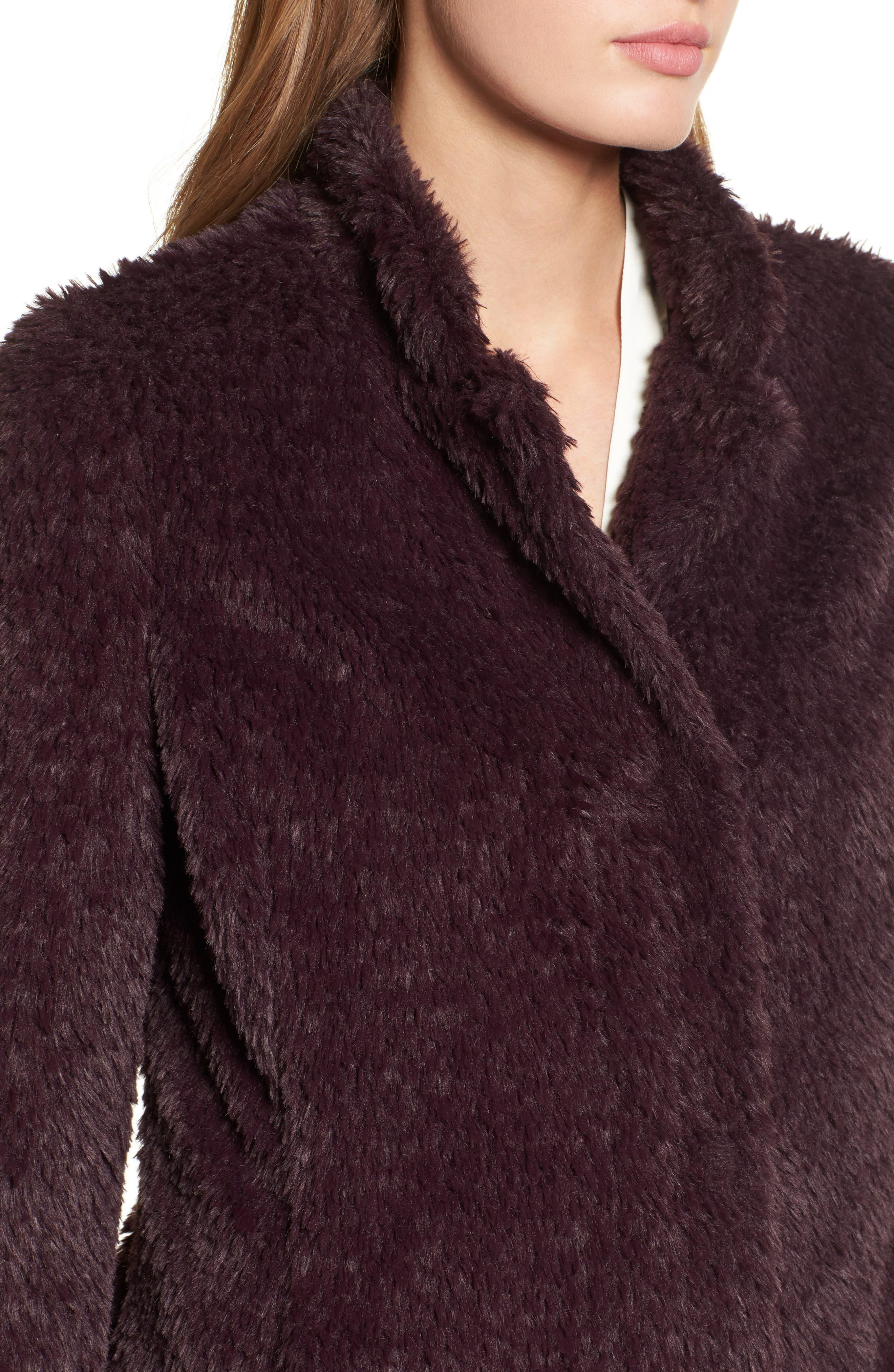 Faux Fur Jacket,                             Alternate thumbnail 22, color,