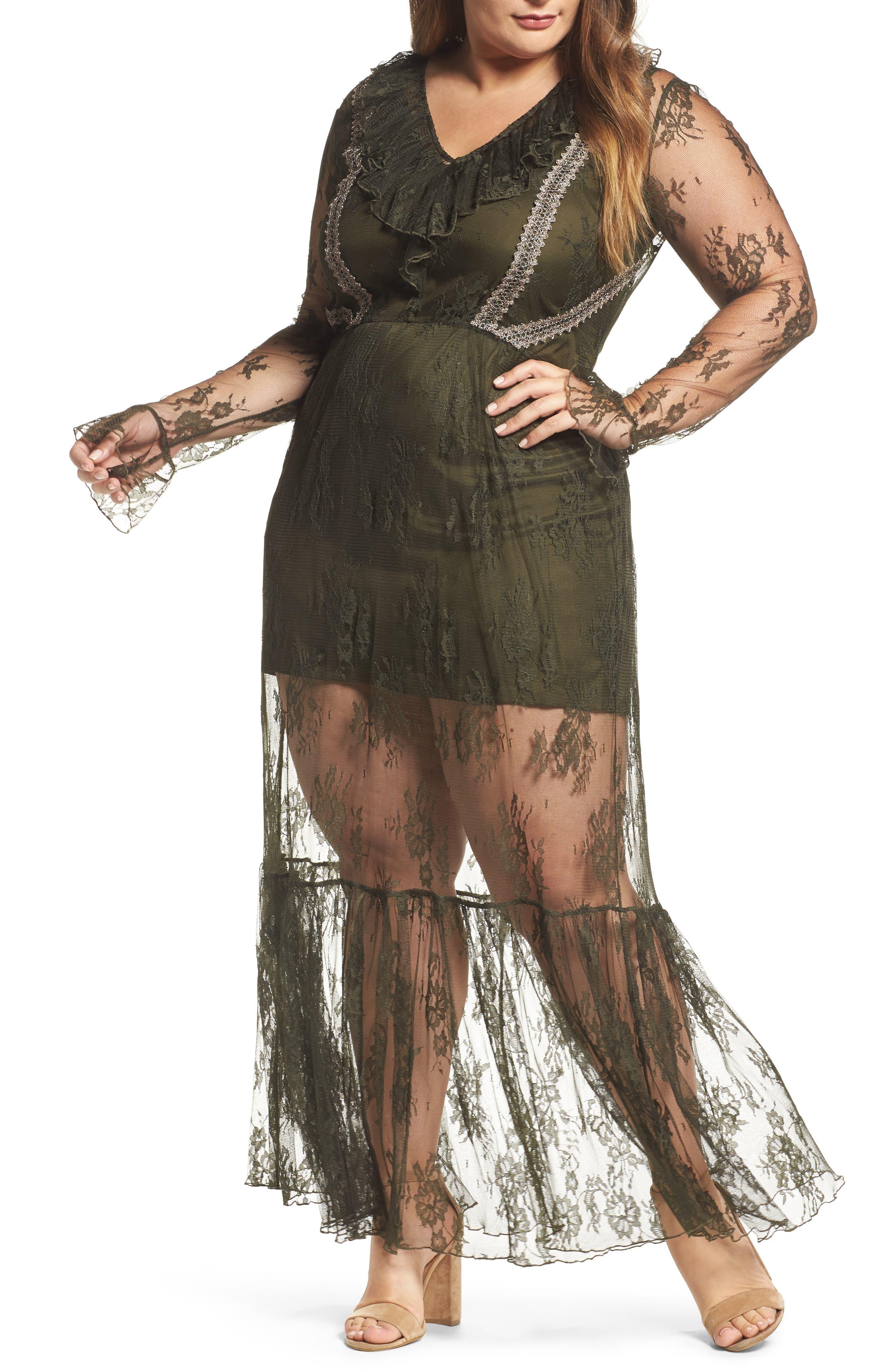 Lace Boho Maxi Dress,                         Main,                         color,