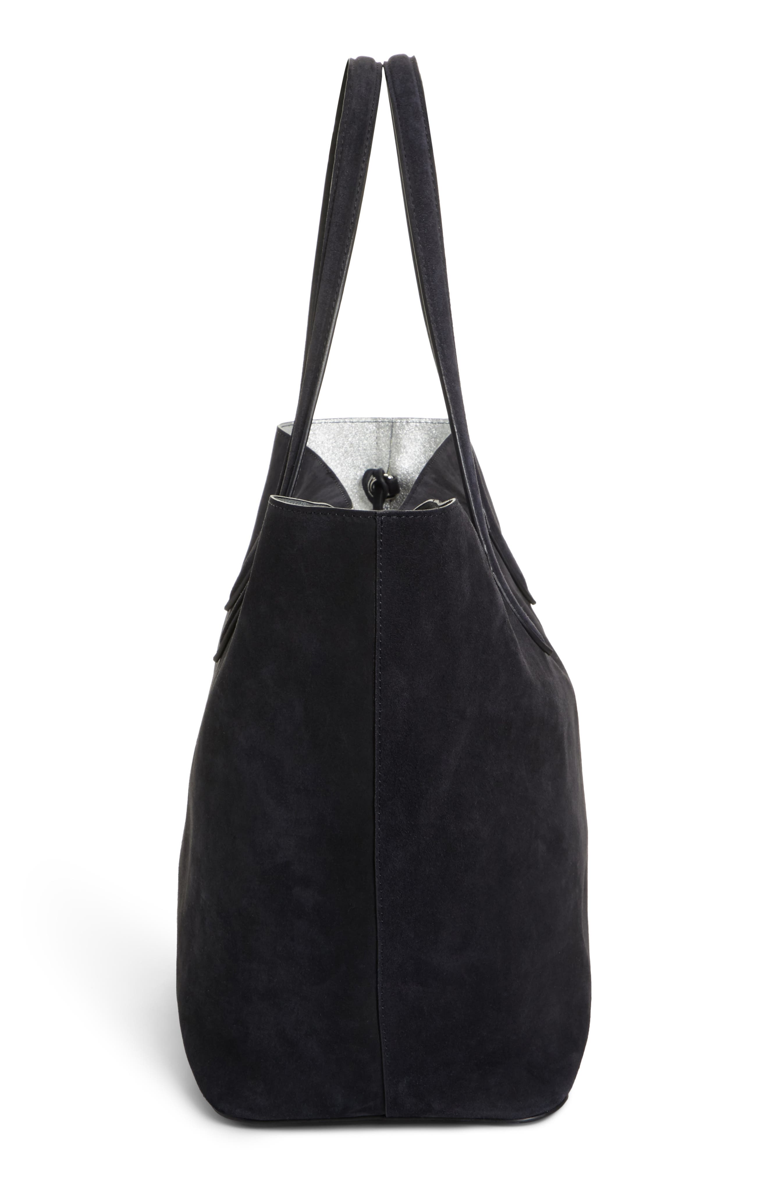 Jin Suede Tote,                             Alternate thumbnail 5, color,                             001