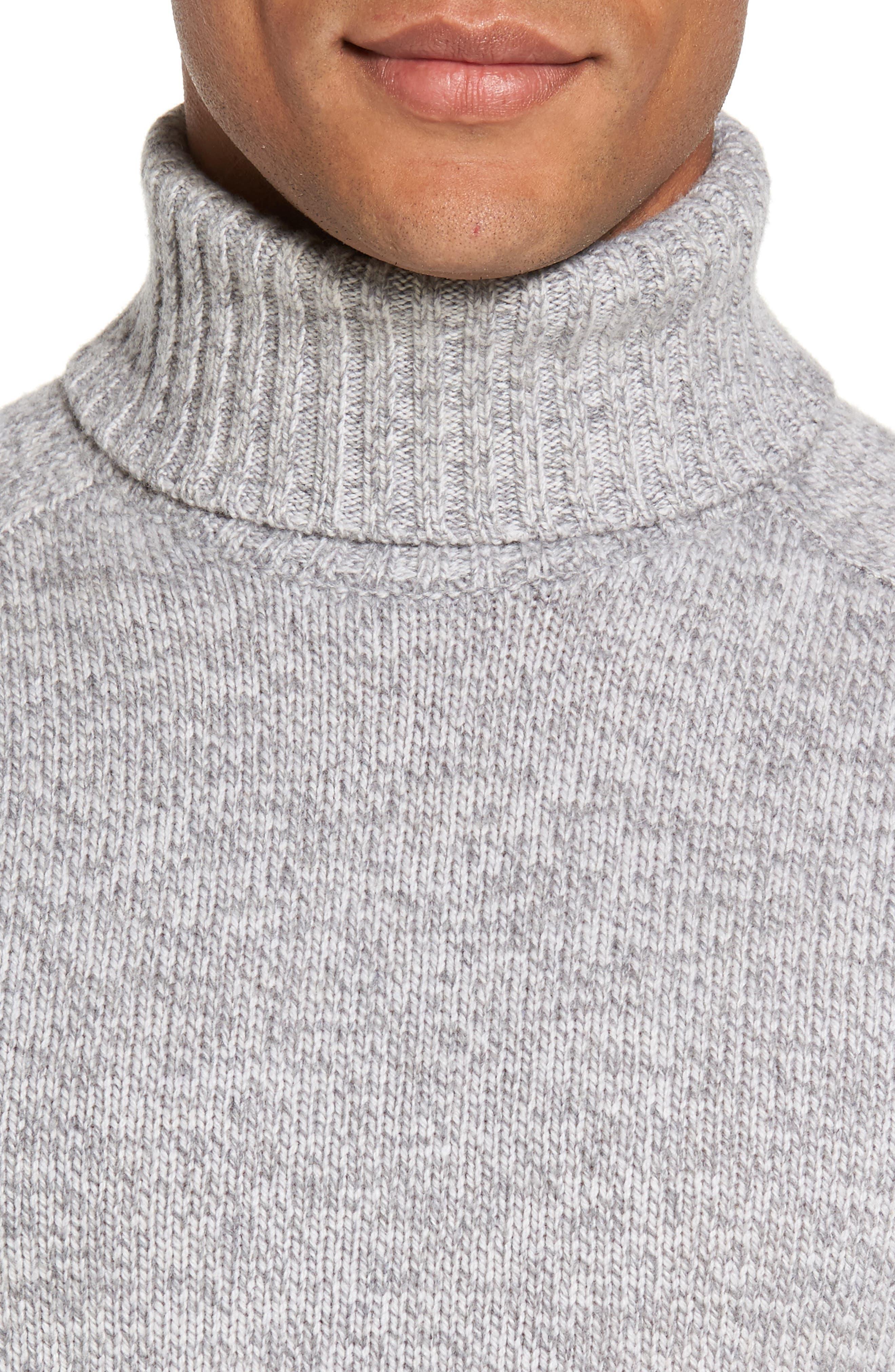 Marled Turtleneck Sweater,                             Alternate thumbnail 4, color,                             054