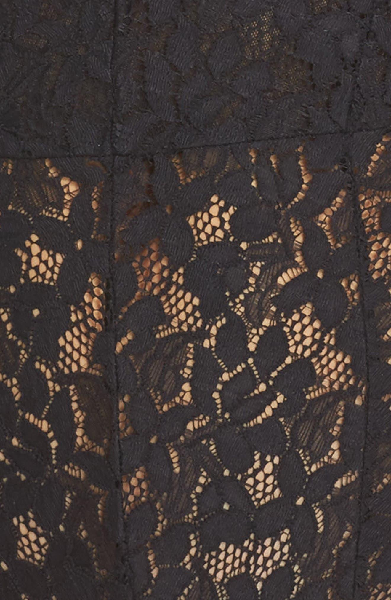 Intimately FP Avery Lace Bodysuit,                             Alternate thumbnail 5, color,                             BLACK