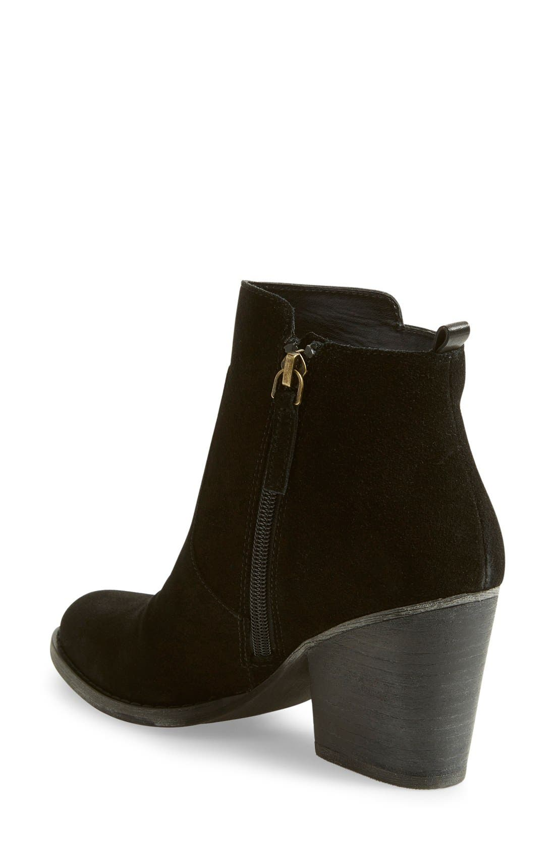 'Winsor' Block Heel Bootie,                             Alternate thumbnail 3, color,                             001