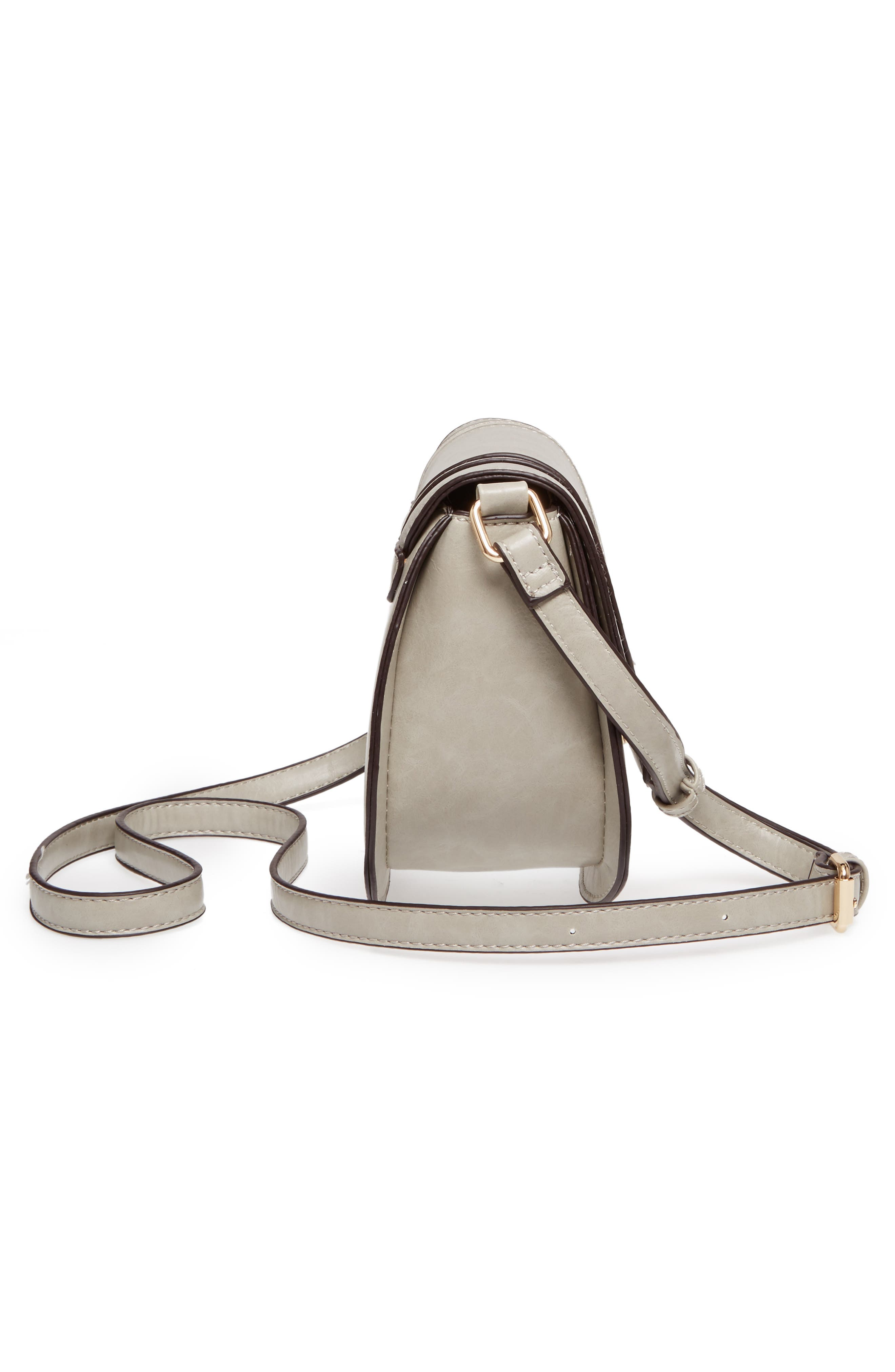 Bryson Faux Leather Crossbody Bag,                             Alternate thumbnail 5, color,                             025