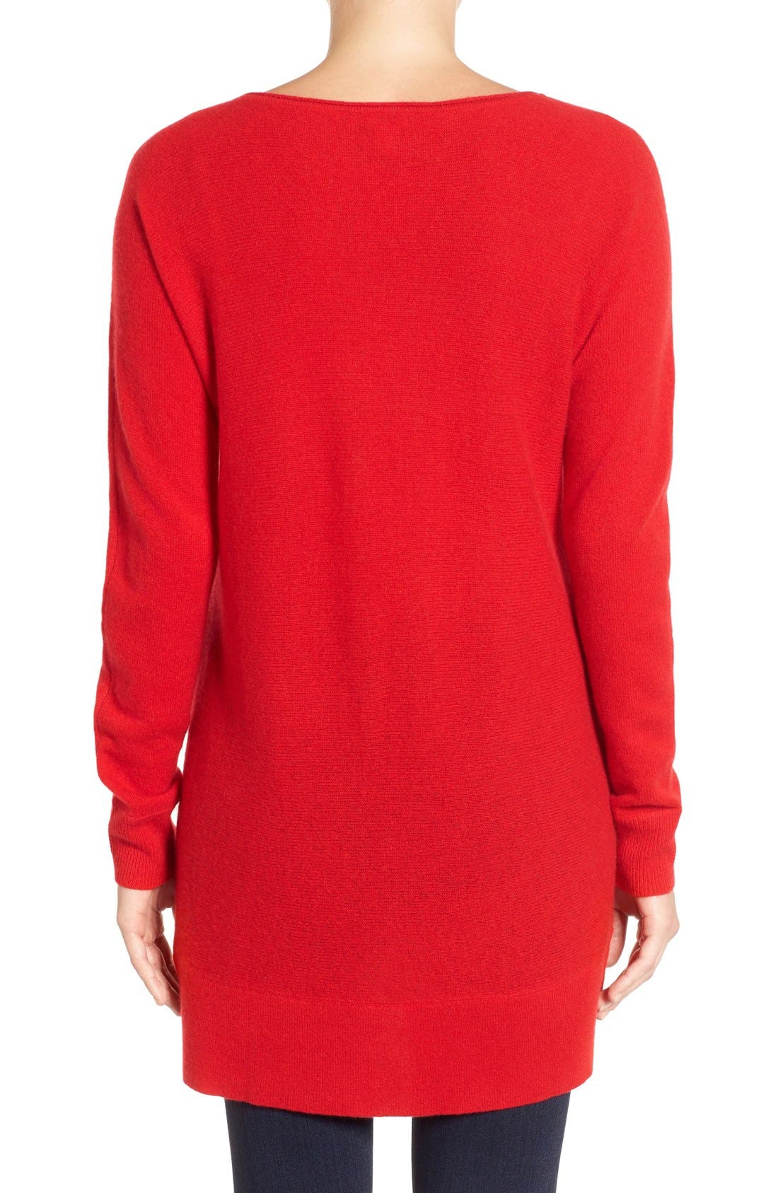 High/Low Wool & Cashmere Tunic Sweater,                             Alternate thumbnail 68, color,
