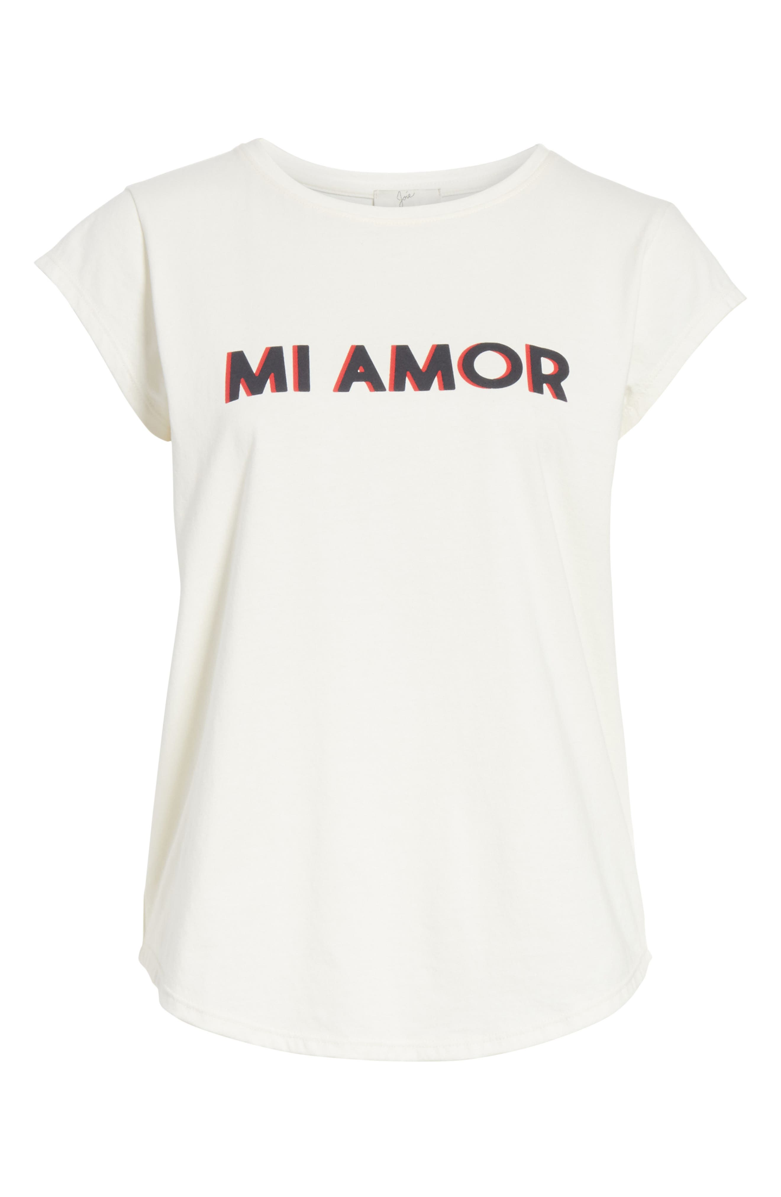 Dillion C Mi Amor Tee,                             Alternate thumbnail 6, color,                             PORCELAIN