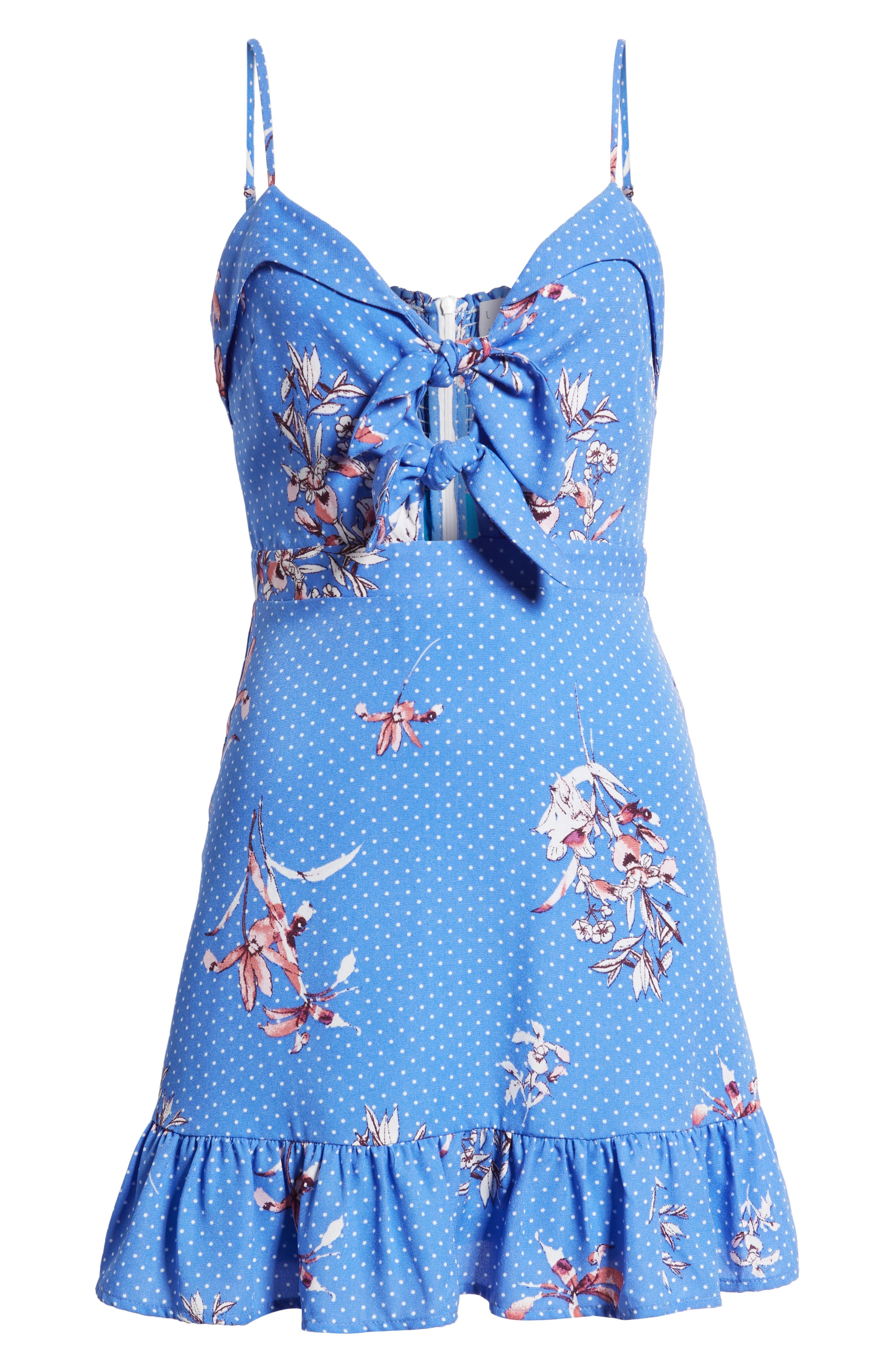Vanessa Tie Front Minidress,                             Alternate thumbnail 7, color,