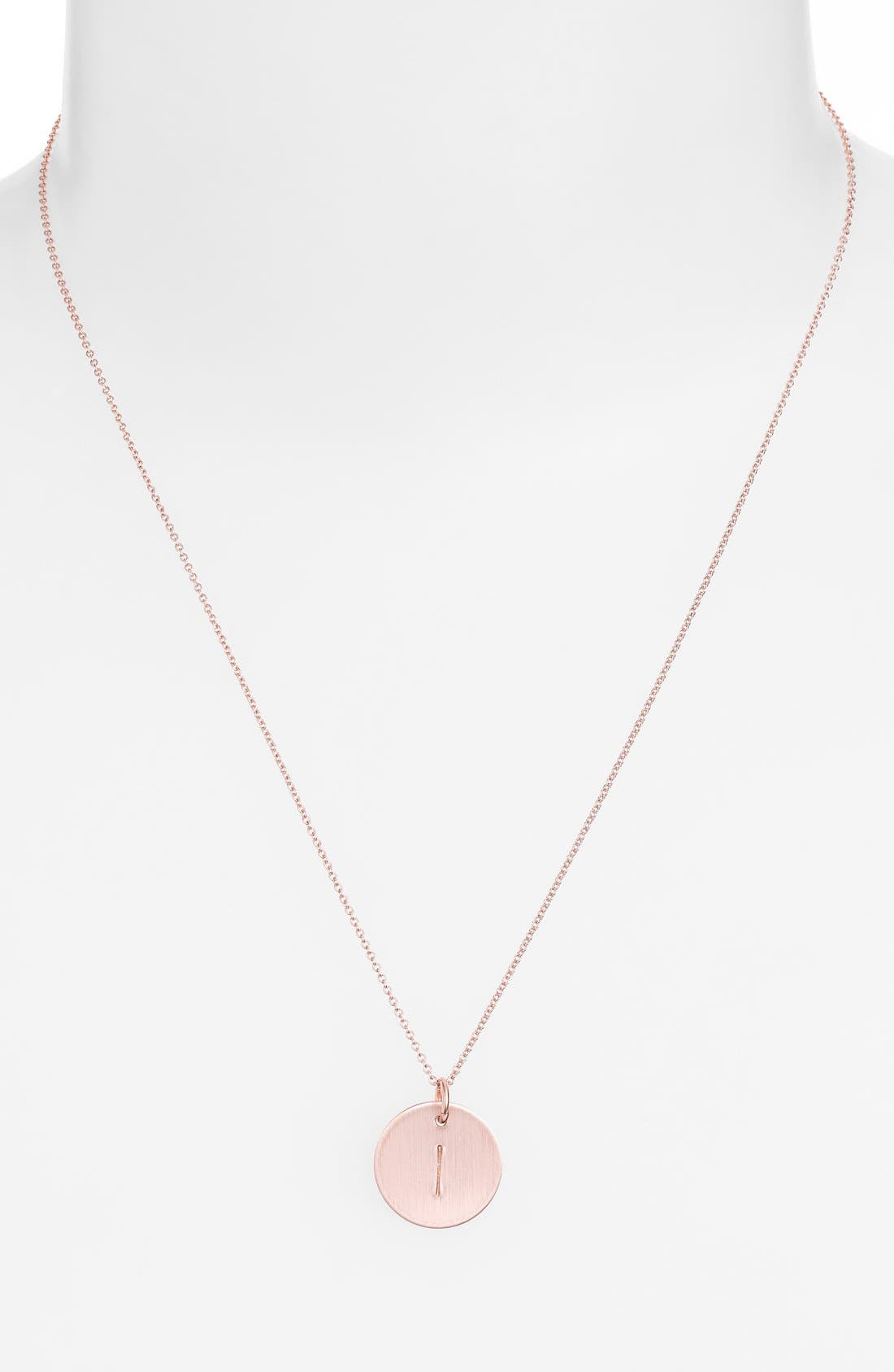 14k-Rose Gold Fill Initial Disc Necklace,                             Alternate thumbnail 35, color,