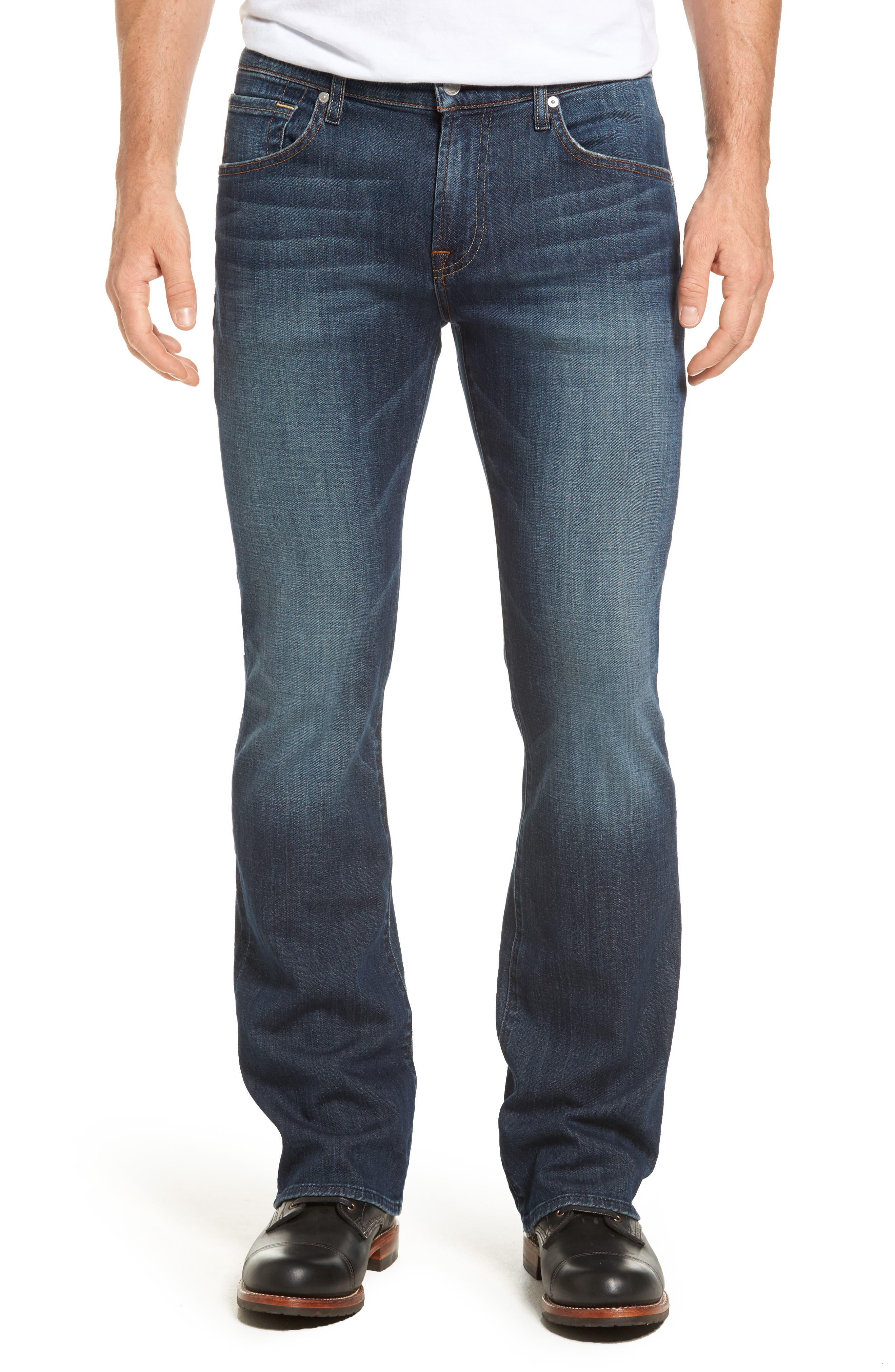 Brett Bootcut Jeans,                         Main,                         color, DARK NEW YORK