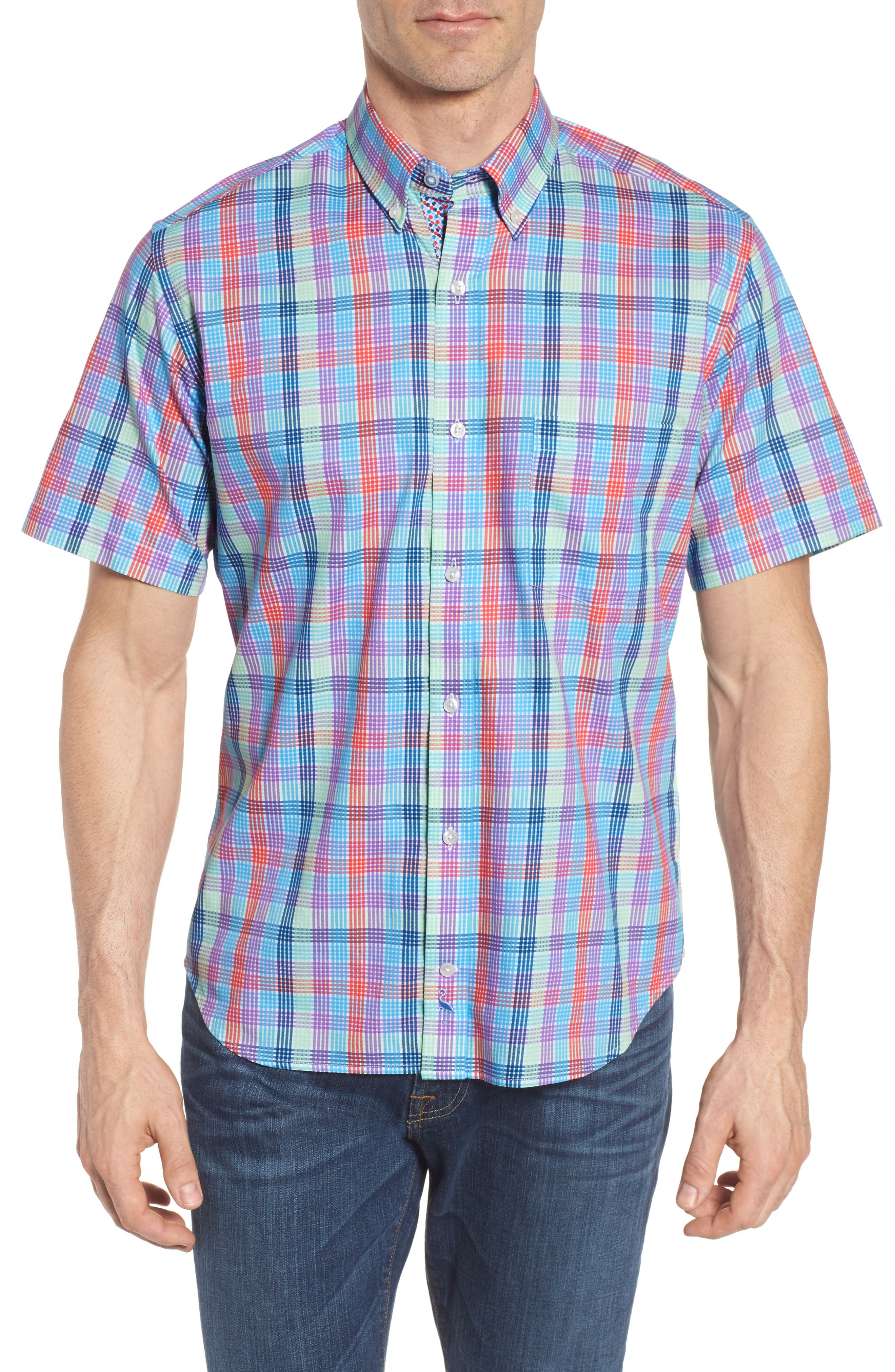 Slidell Regular Fit Check Sport Shirt,                             Main thumbnail 1, color,