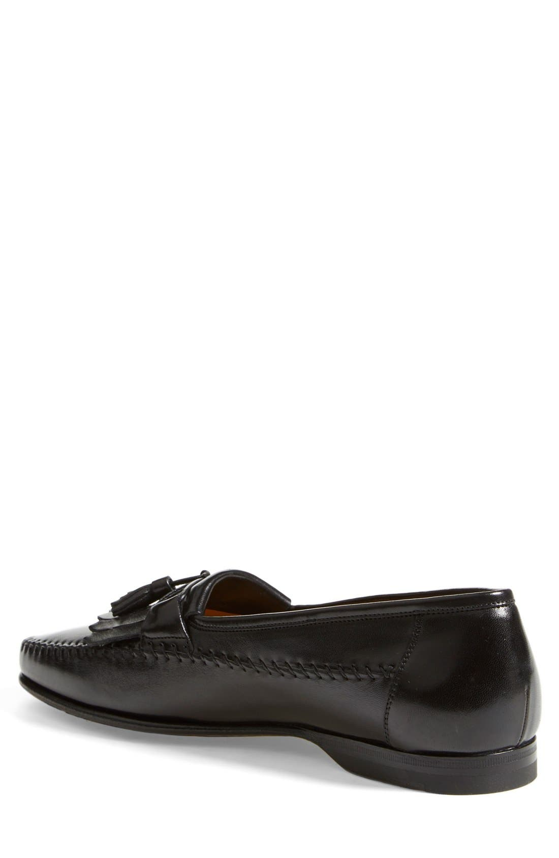 'Forester' Kiltie Tassel Loafer,                             Alternate thumbnail 6, color,                             001