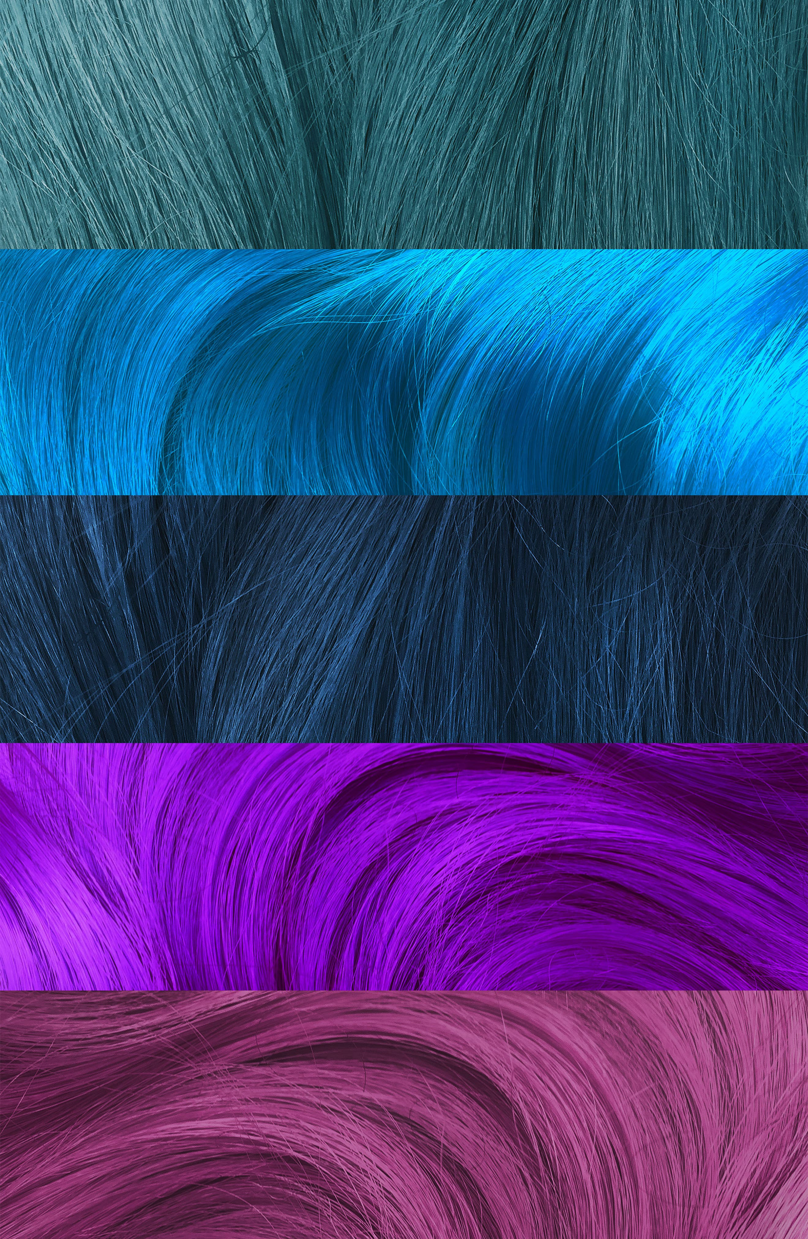 Mermaid Goals Unicorn Hair Try Me Kit,                             Alternate thumbnail 3, color,                             MERMAID GOALS