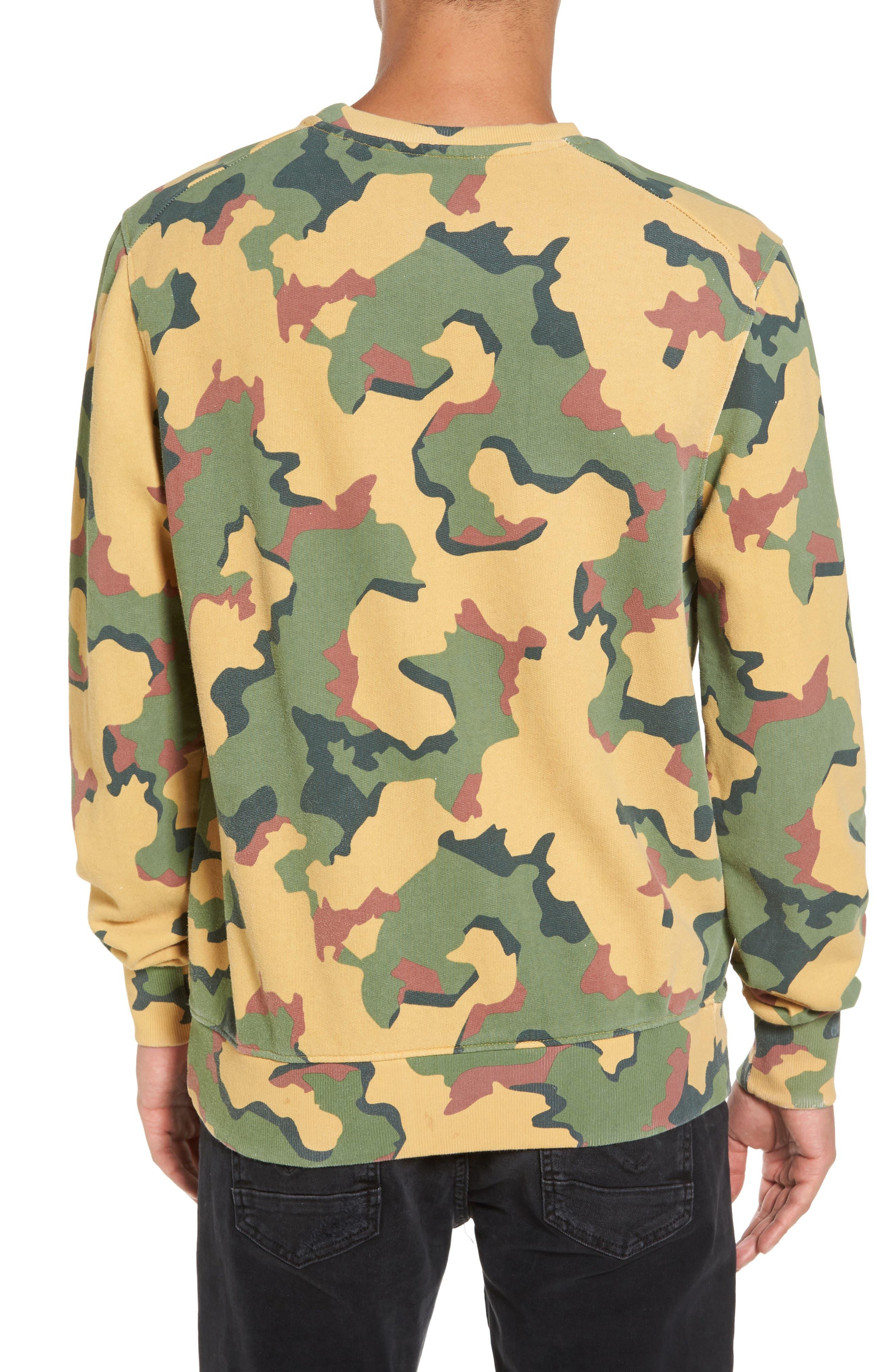 Anatole Camo Fleece Sweatshirt,                             Alternate thumbnail 2, color,