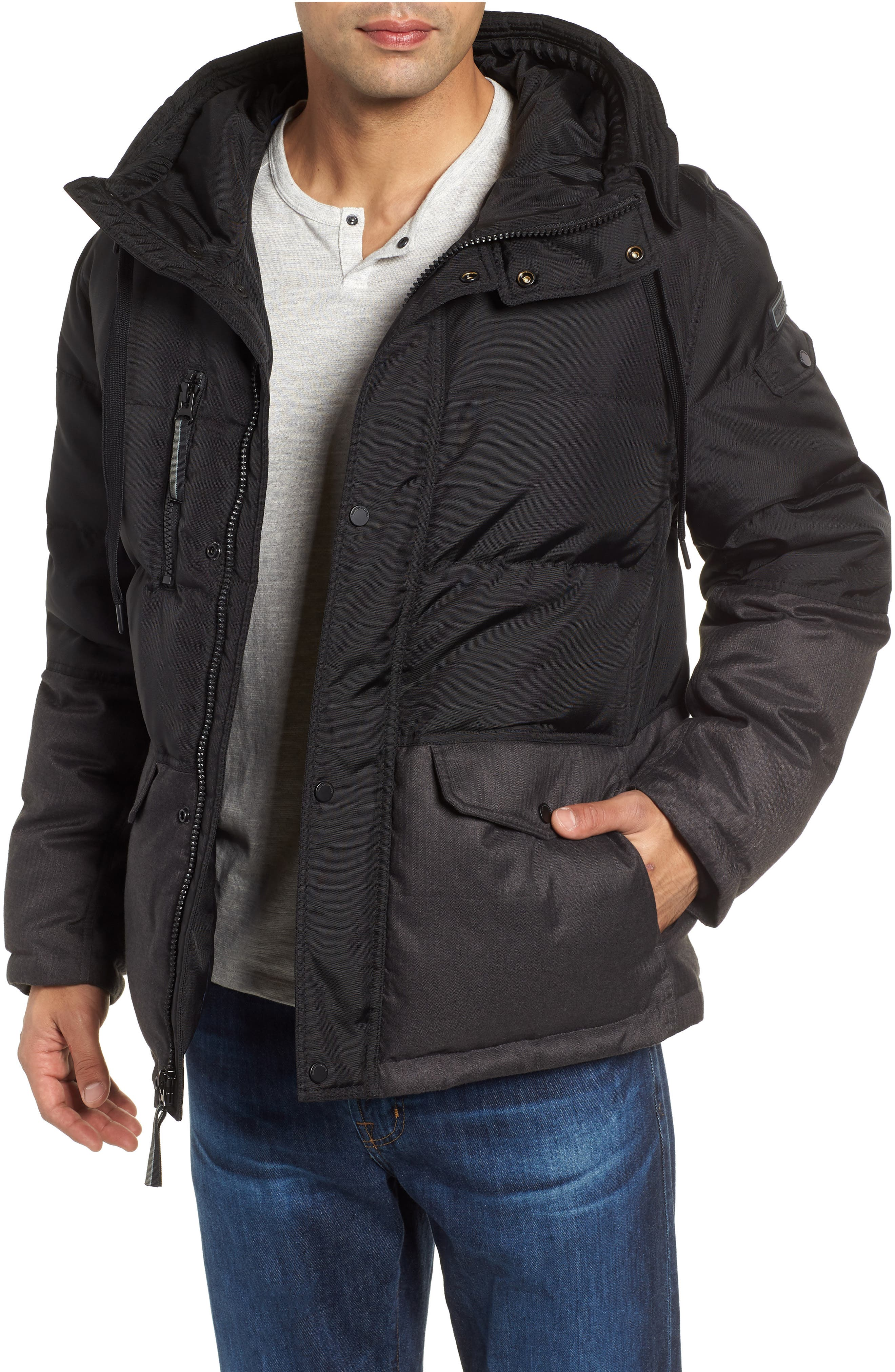 MARC NEW YORK,                             Stanton Oxford Puffer Jacket,                             Main thumbnail 1, color,                             BLACK