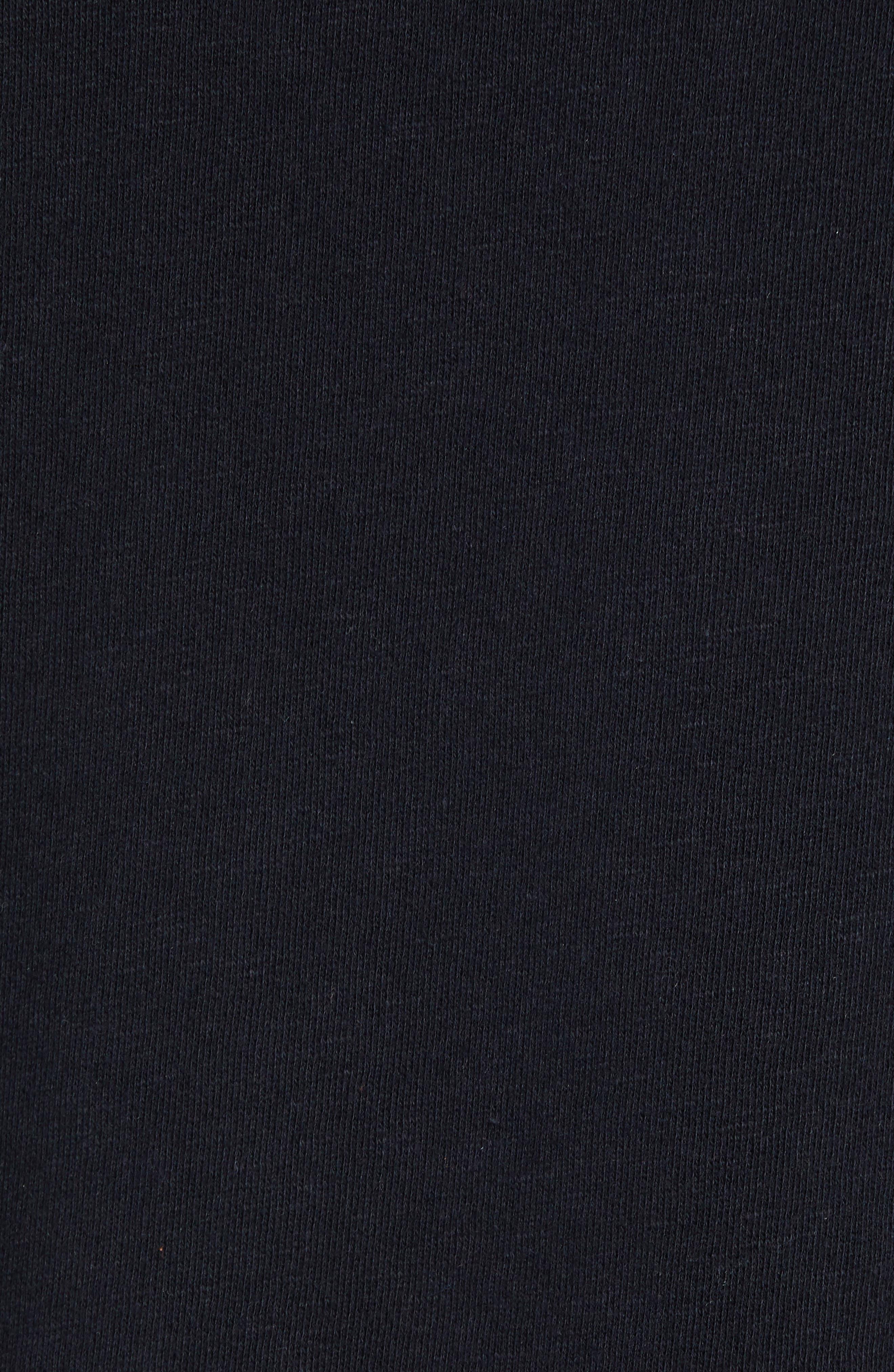 Velour Blocked Hoodie,                             Alternate thumbnail 5, color,                             BLACK ROCK