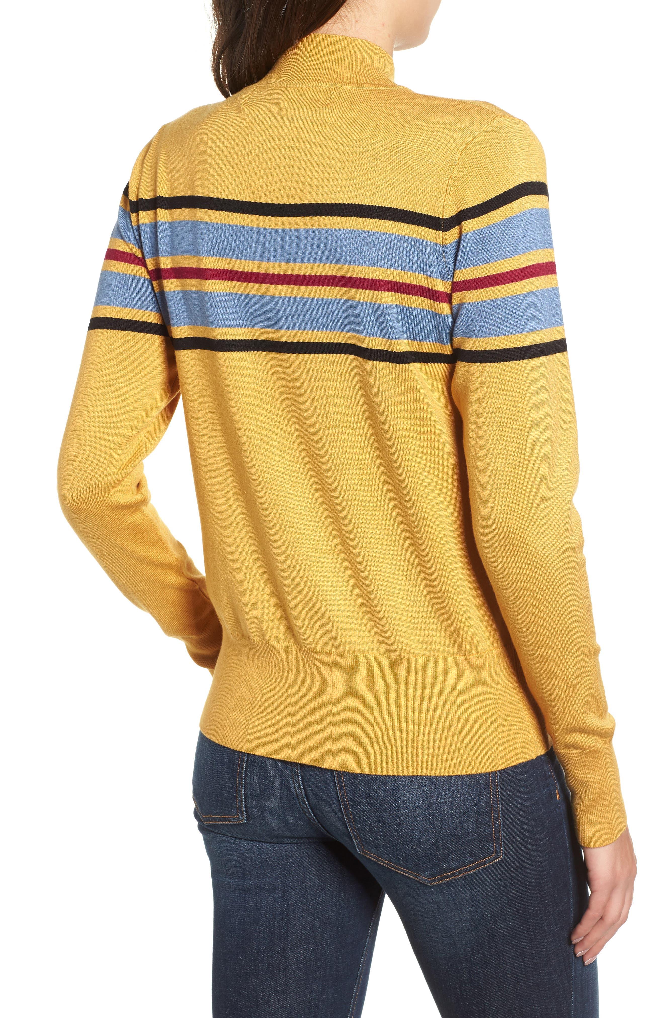 Skivvy Stripe Sweater,                             Alternate thumbnail 2, color,                             MUSTARD