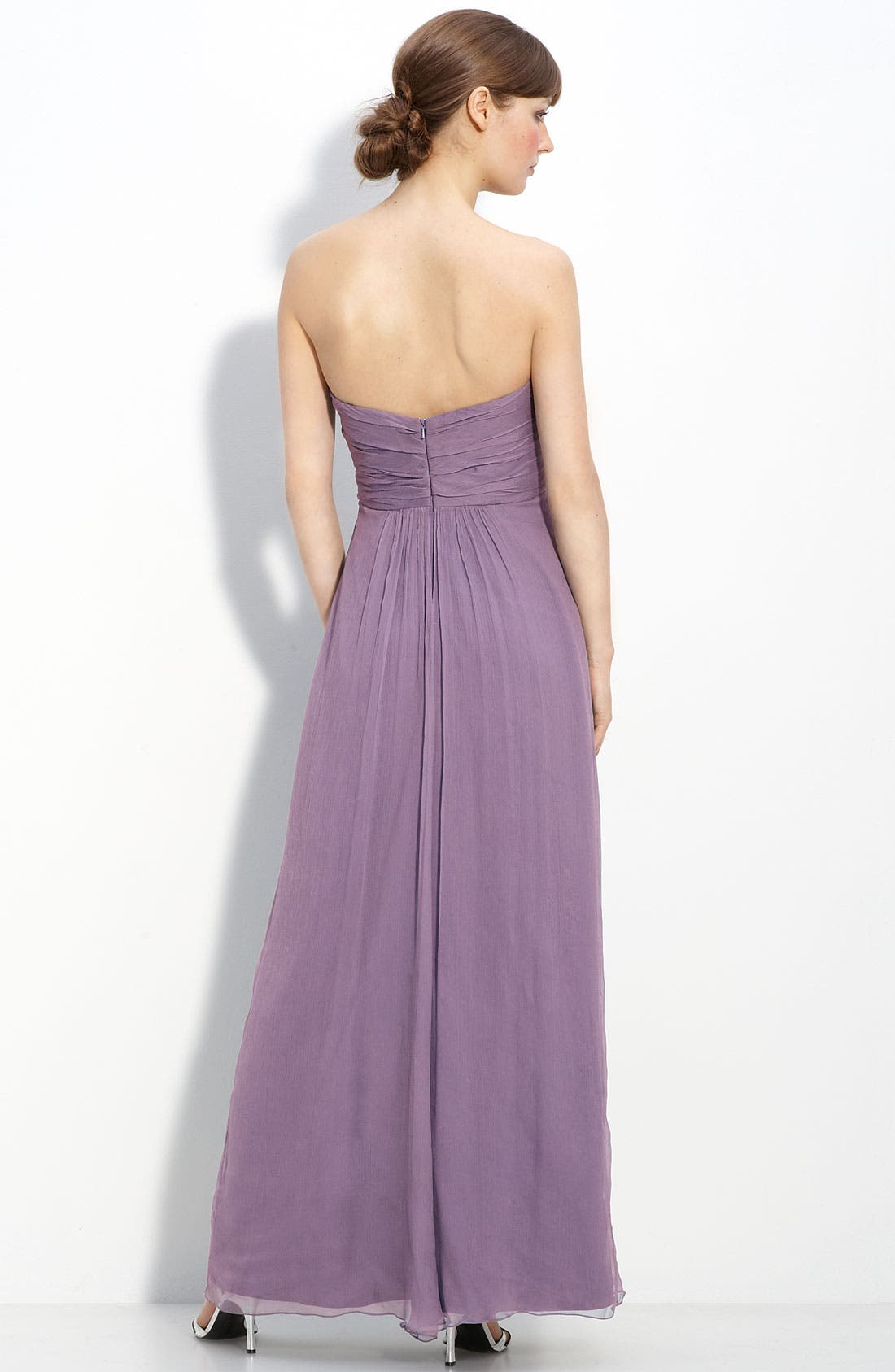 Strapless Crinkle Chiffon Gown,                             Alternate thumbnail 29, color,