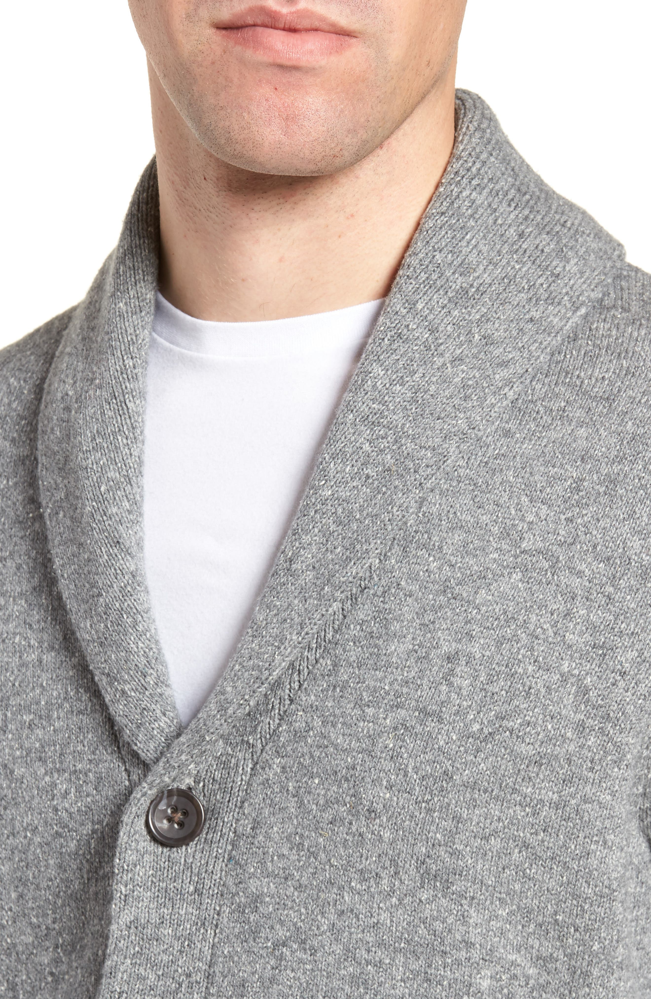 Shawl Collar Cardigan,                             Alternate thumbnail 4, color,                             030