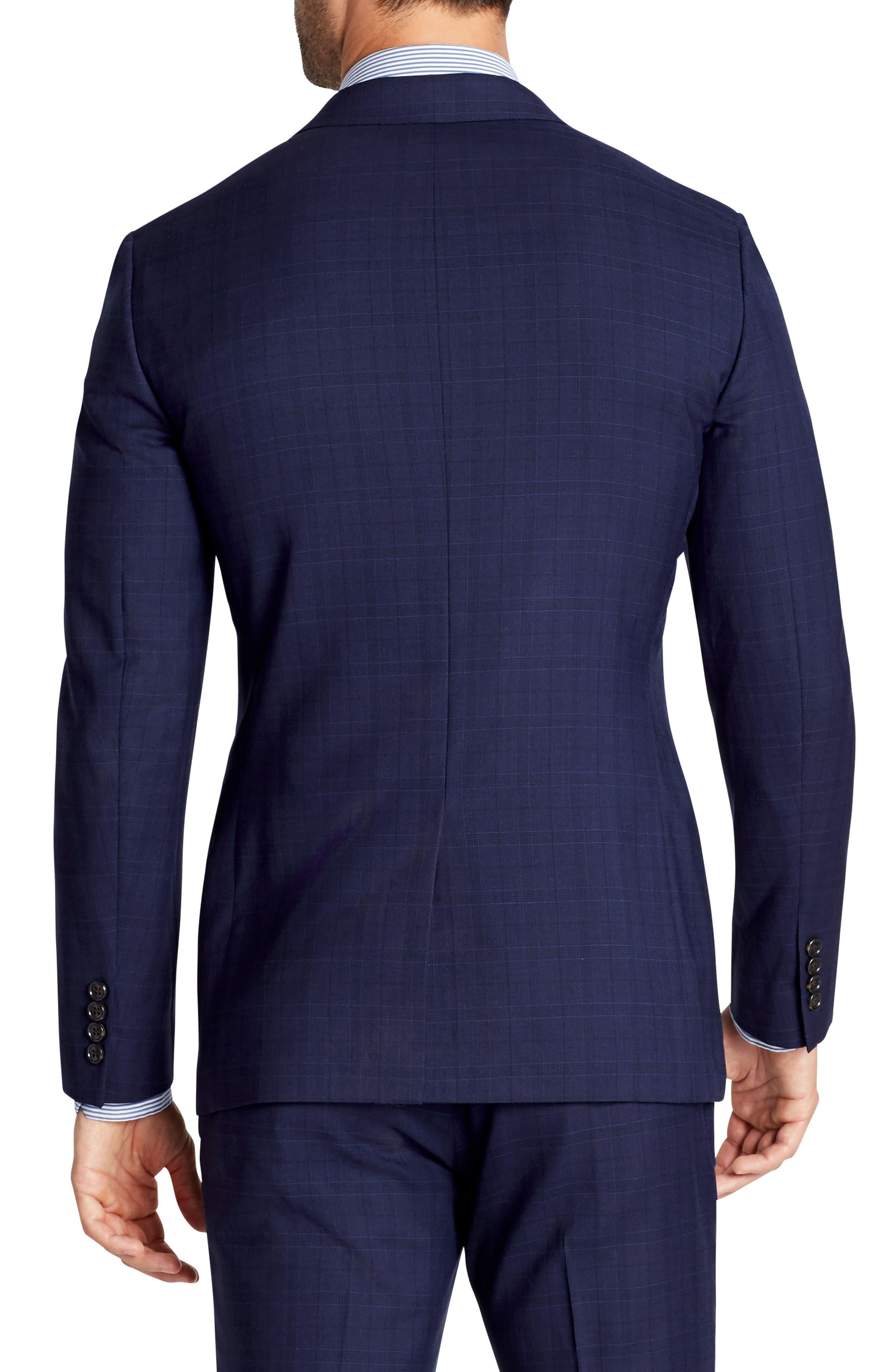 Jetsetter Slim Fit Plaid Stretch Wool Sport Coat,                             Alternate thumbnail 2, color,                             400
