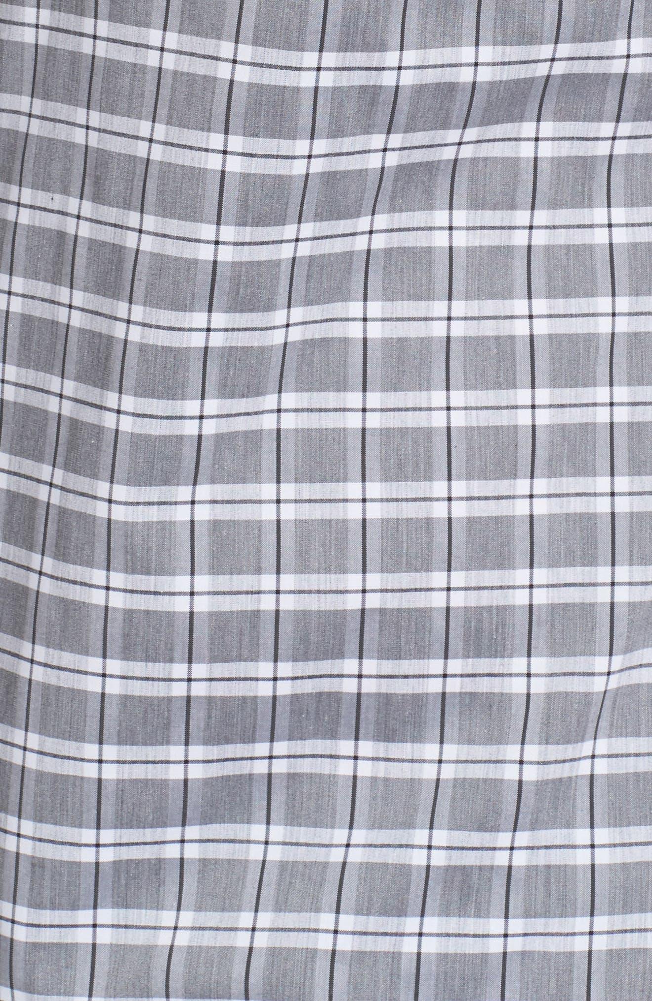 Trim Fit Tech-Smart Heather Check Sport Shirt,                             Alternate thumbnail 5, color,                             030