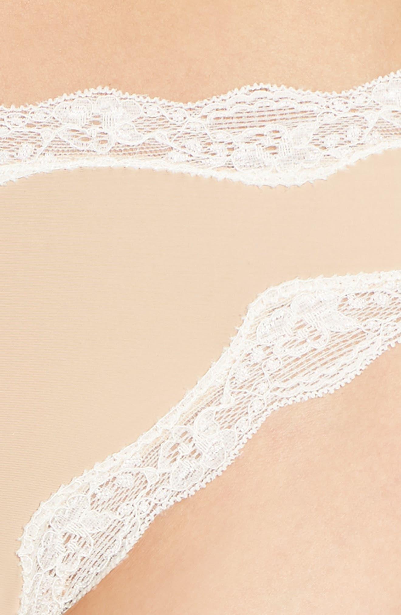 Lace Trim Thong,                             Alternate thumbnail 77, color,