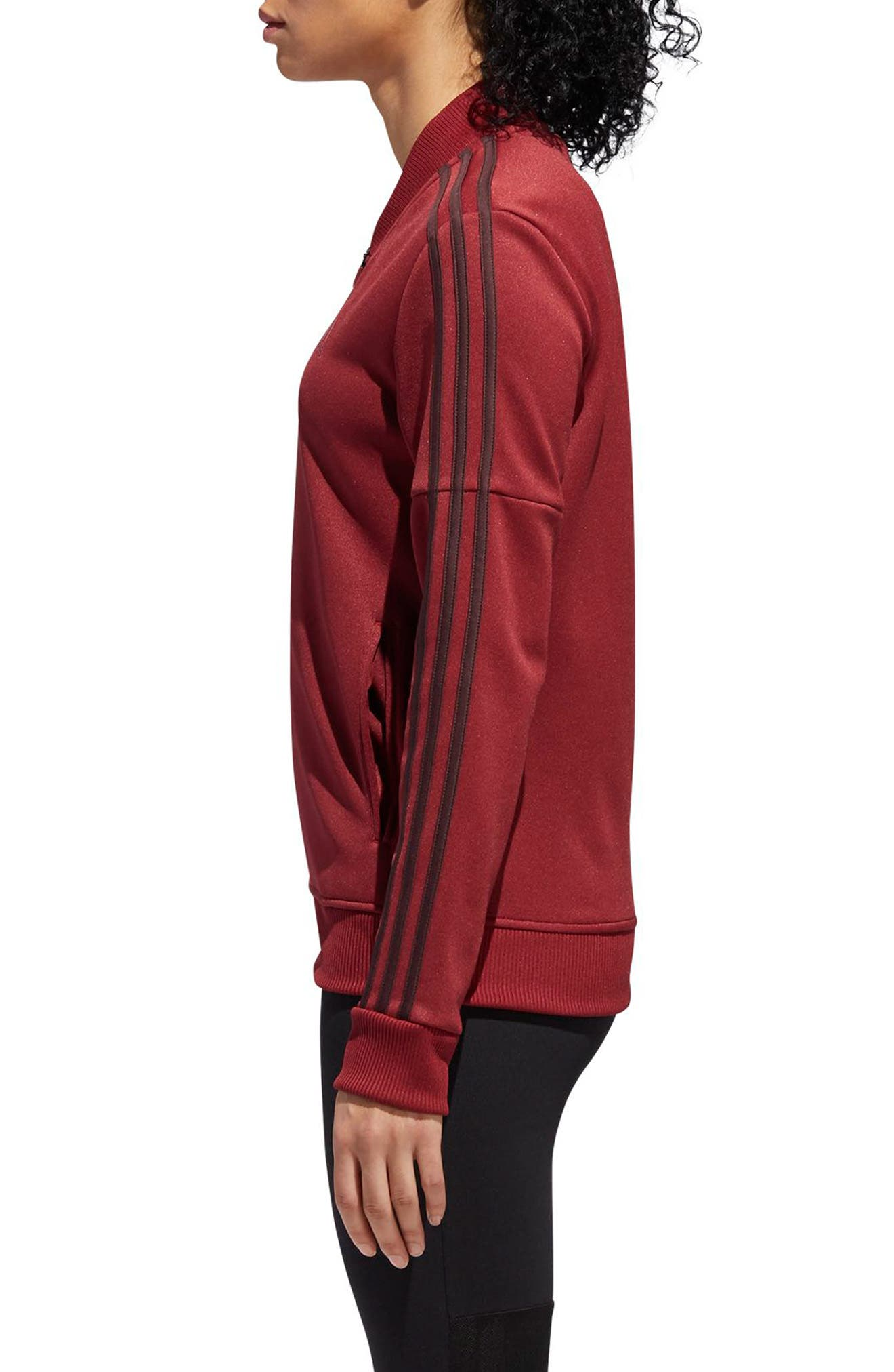 Snap Hem Track Jacket,                             Alternate thumbnail 3, color,                             NOBLE MAROON/ NIGHT RED