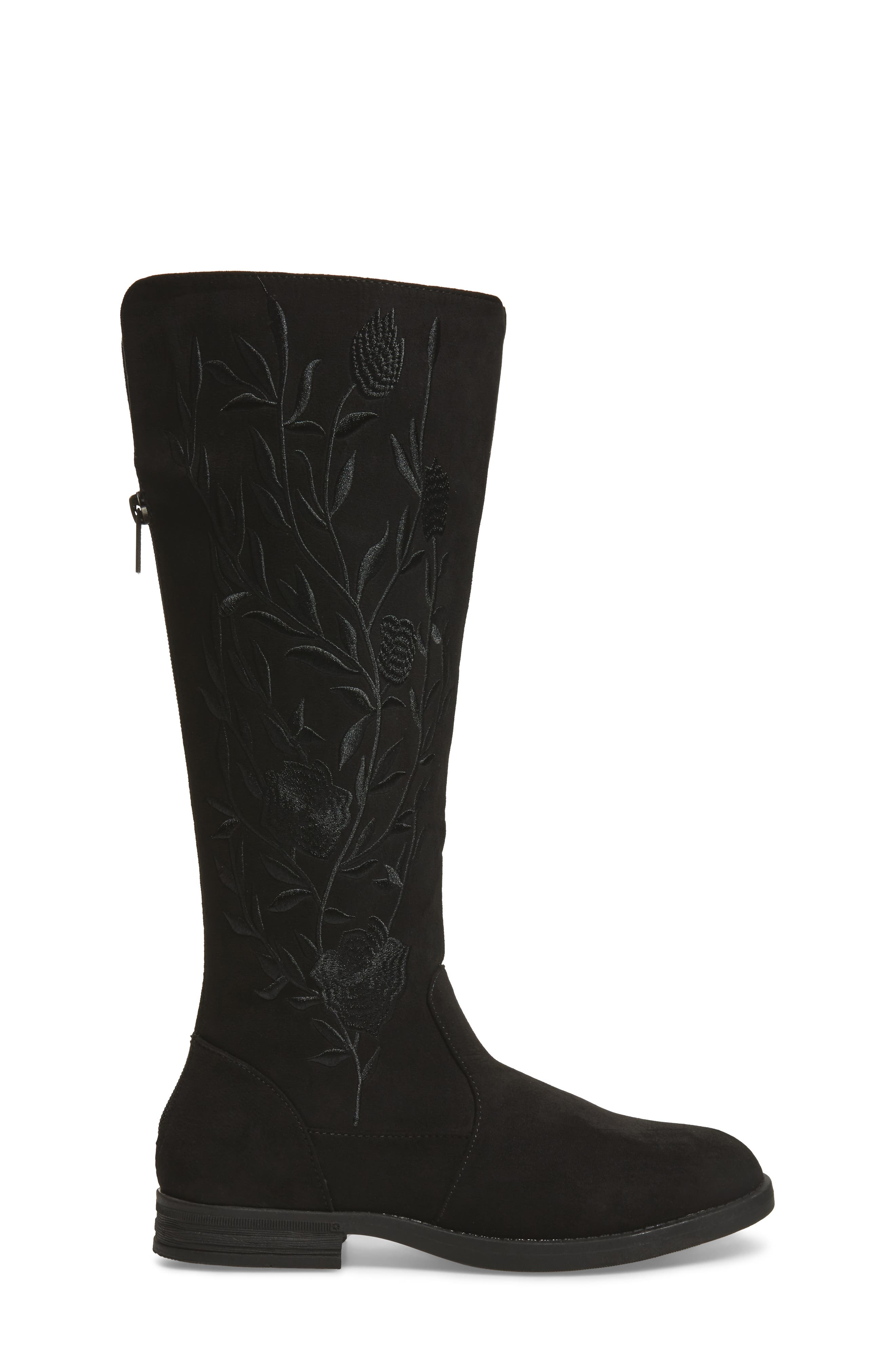 Wildflower Tall Boot,                             Alternate thumbnail 3, color,                             001