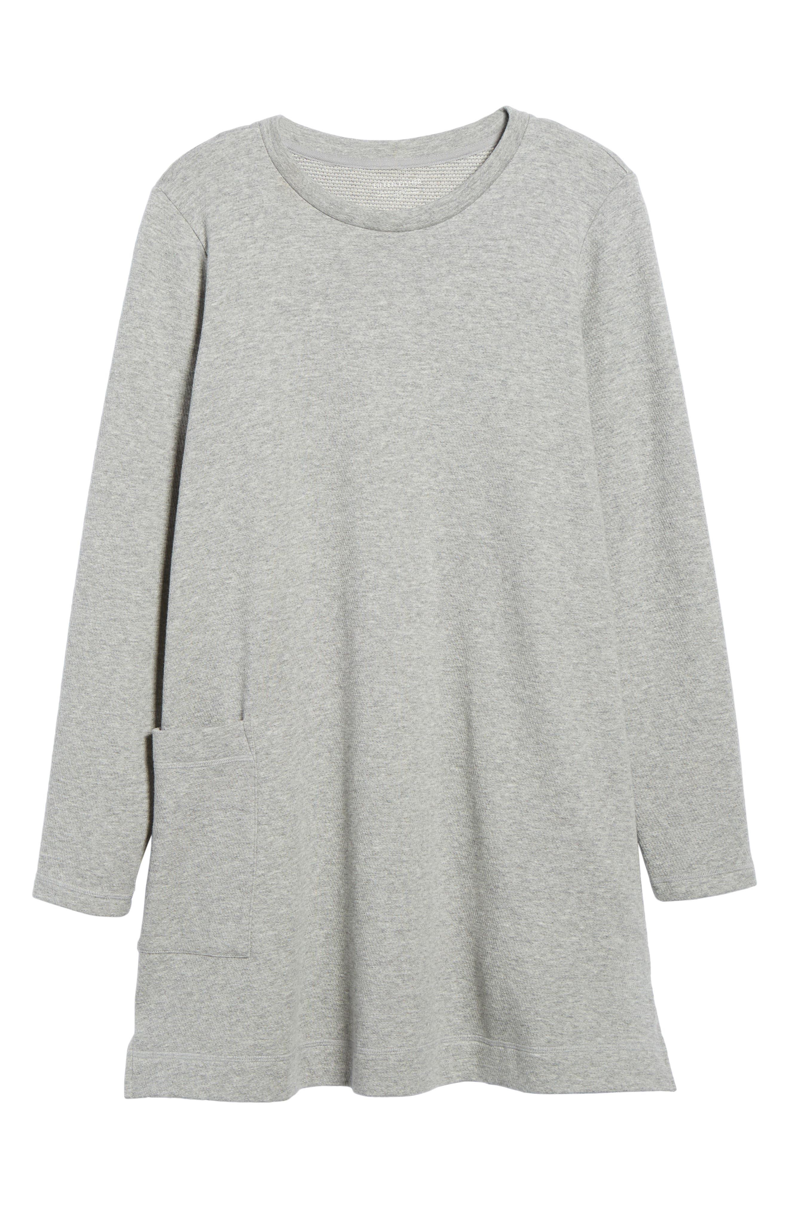 Double Knit Organic Cotton Tunic,                             Alternate thumbnail 6, color,                             022