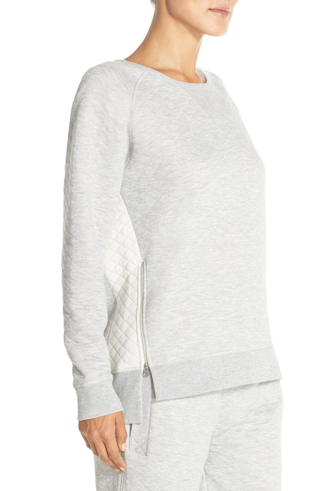 DANIEL BUCHLER,                             Quilted Cotton Sweatshirt,                             Alternate thumbnail 6, color,                             020