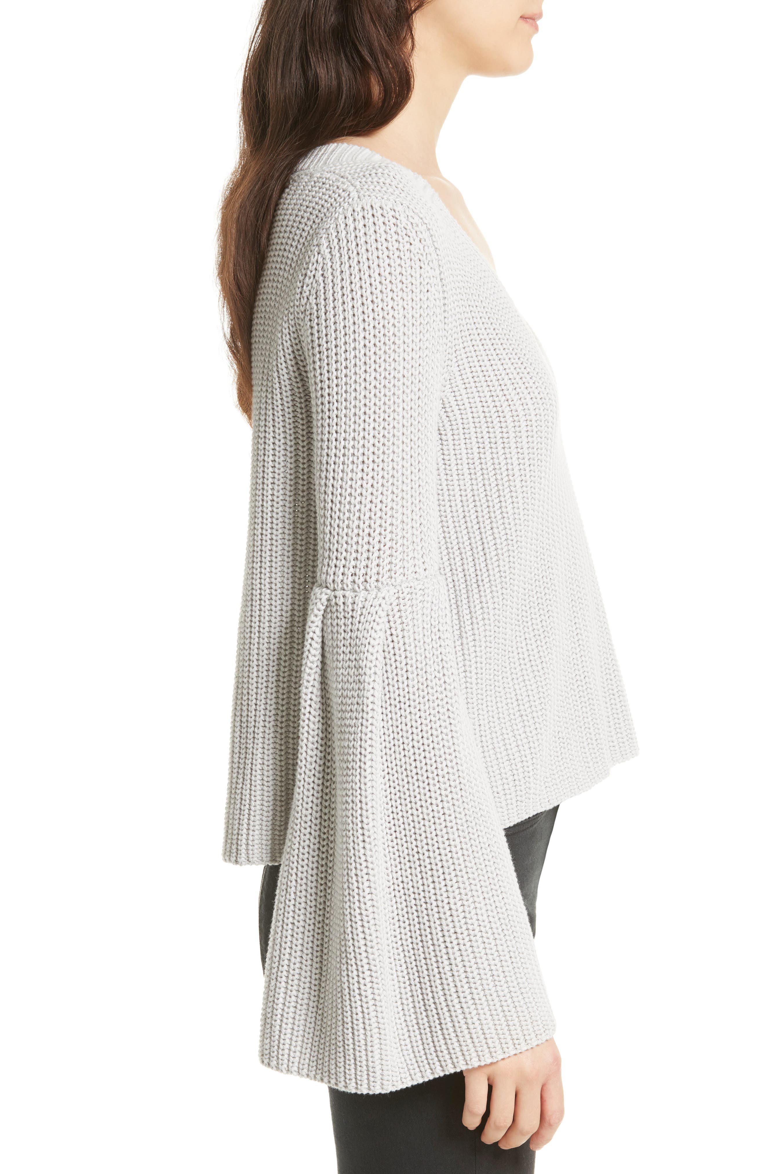 Damsel Bell Sleeve Pullover,                             Alternate thumbnail 10, color,