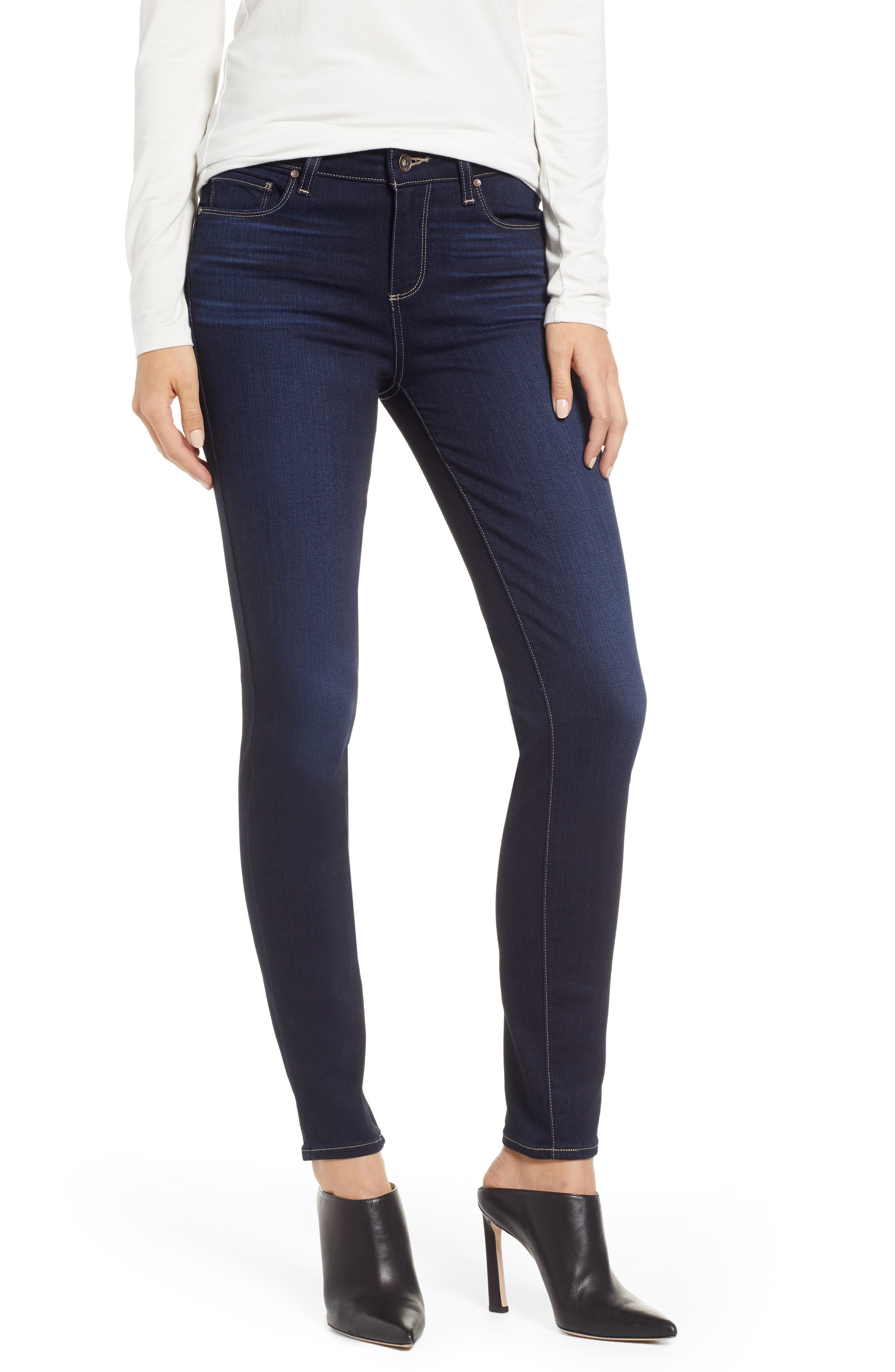 PAIGE Transcend - Verdugo Ultra Skinny Jeans, Main, color, ACADIA