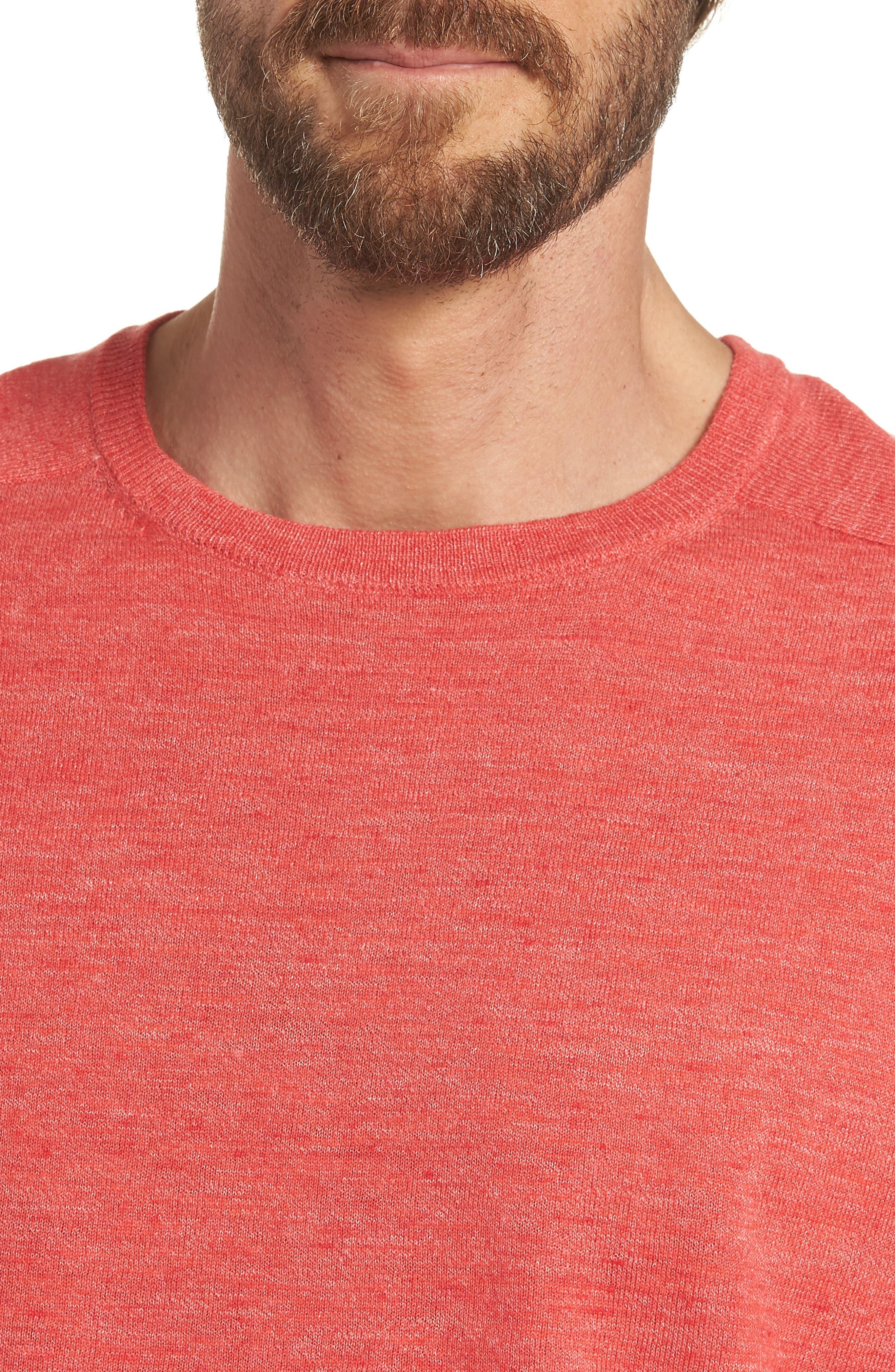 Cotton Blend Crewneck Sweater,                             Alternate thumbnail 16, color,