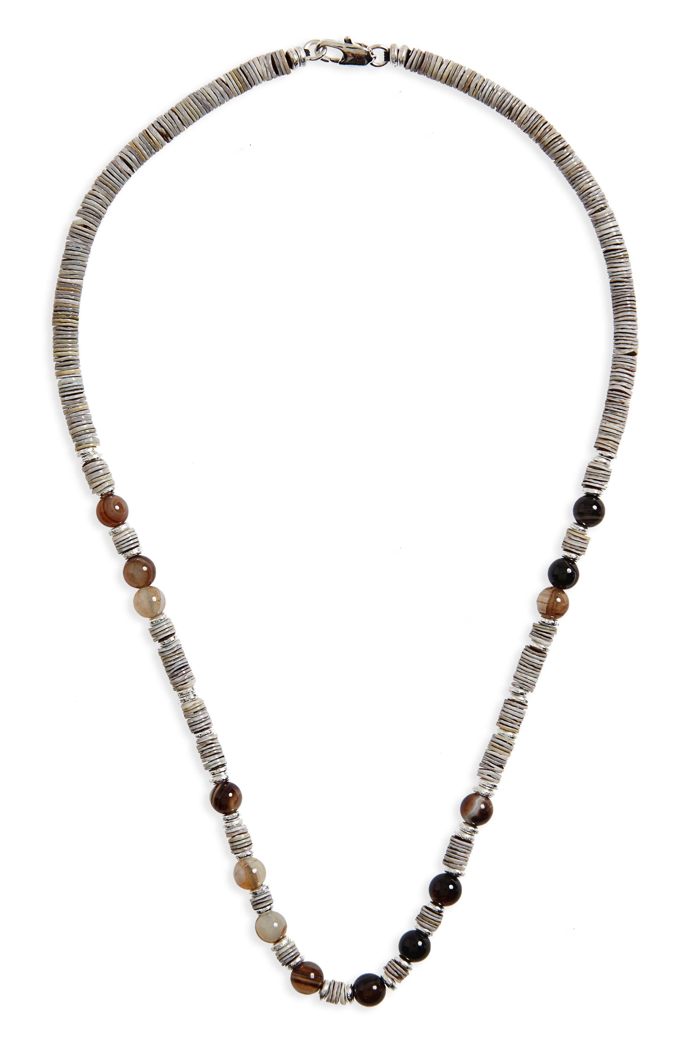 Shell Bead Necklace,                             Main thumbnail 2, color,