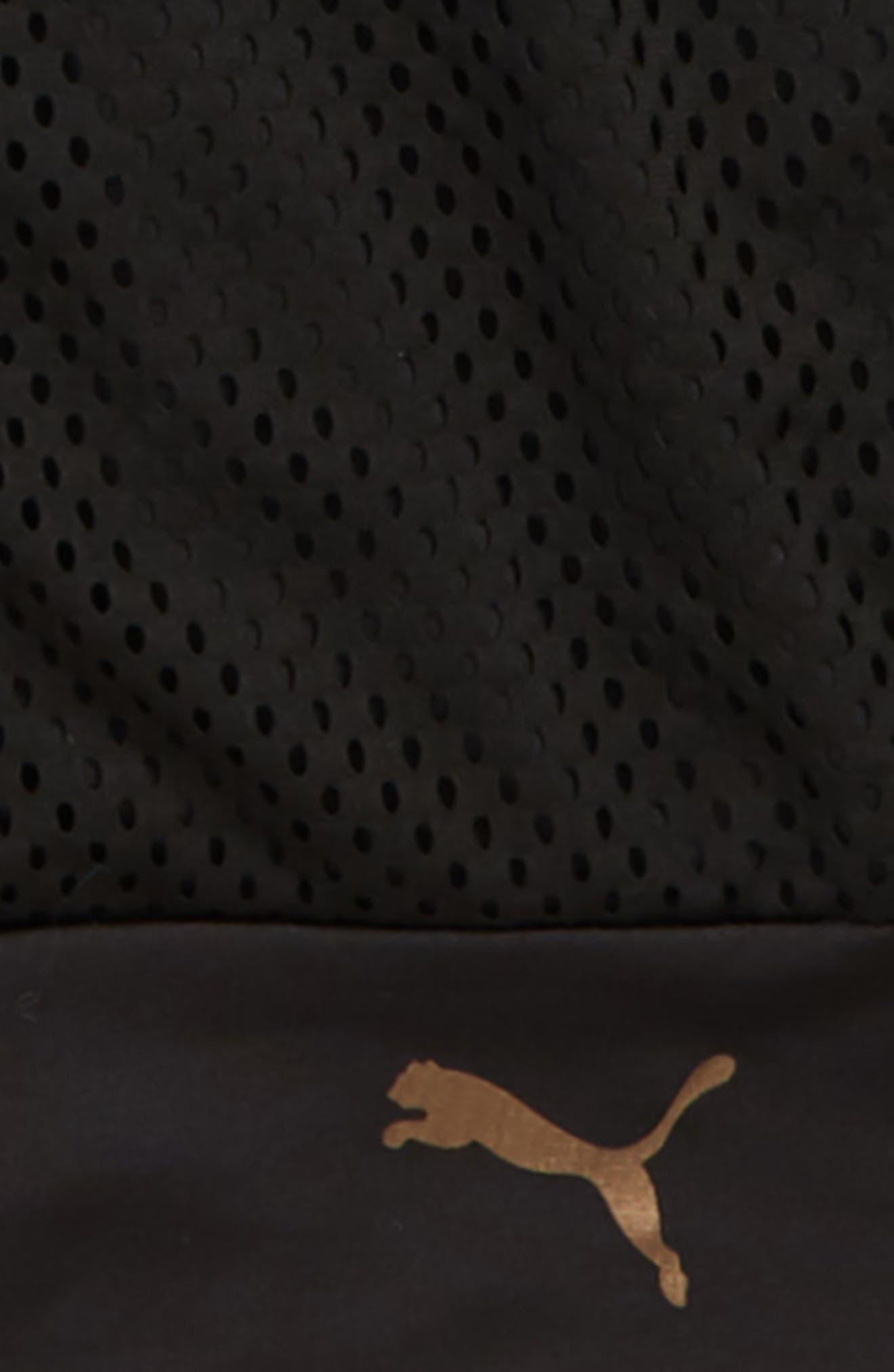 Mesh Bomber Jacket,                             Alternate thumbnail 3, color,                             PUMA BLACK