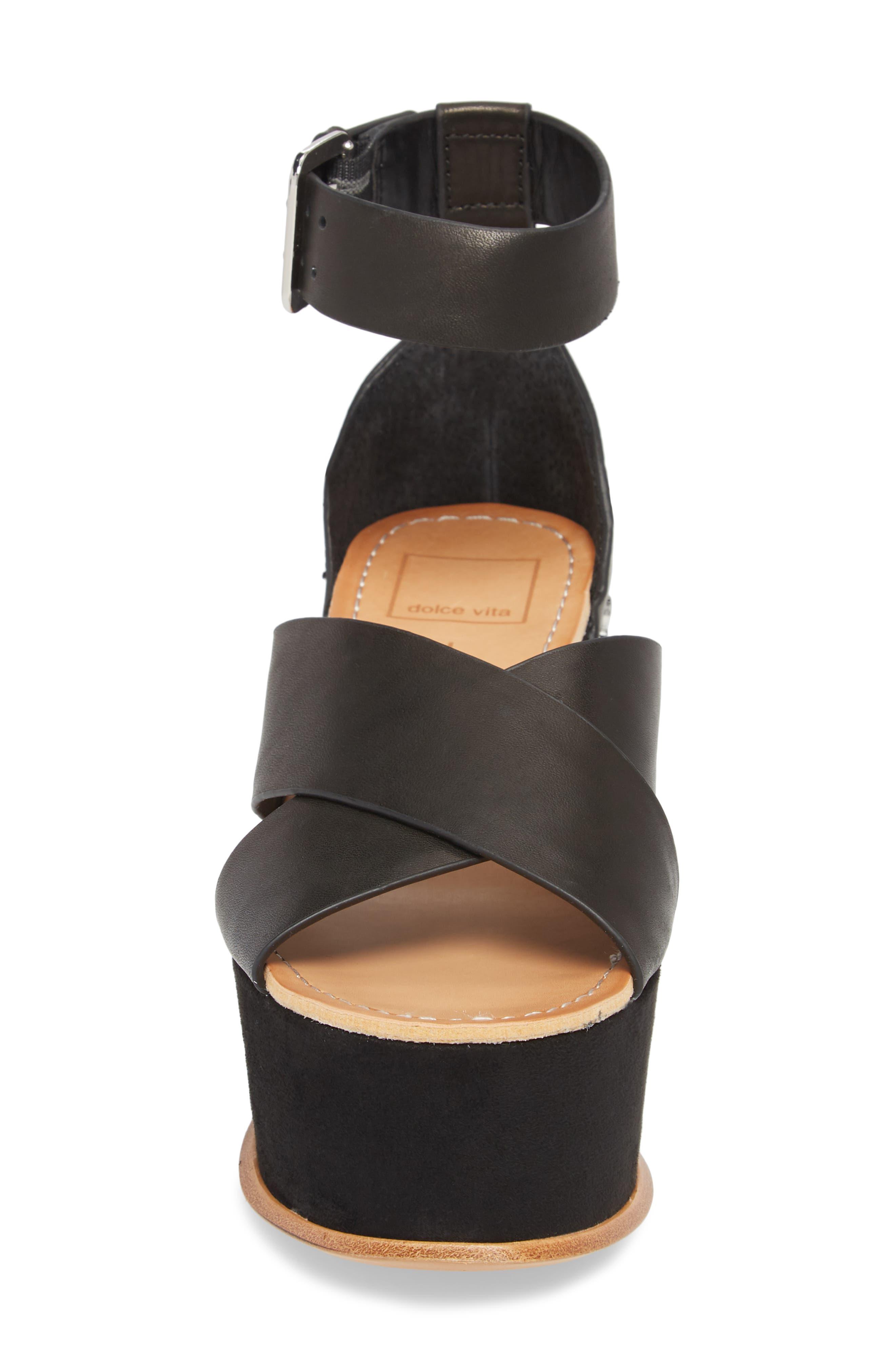 DOLCE VITA,                             Dalrae Platform Wedge Sandal,                             Alternate thumbnail 4, color,                             001