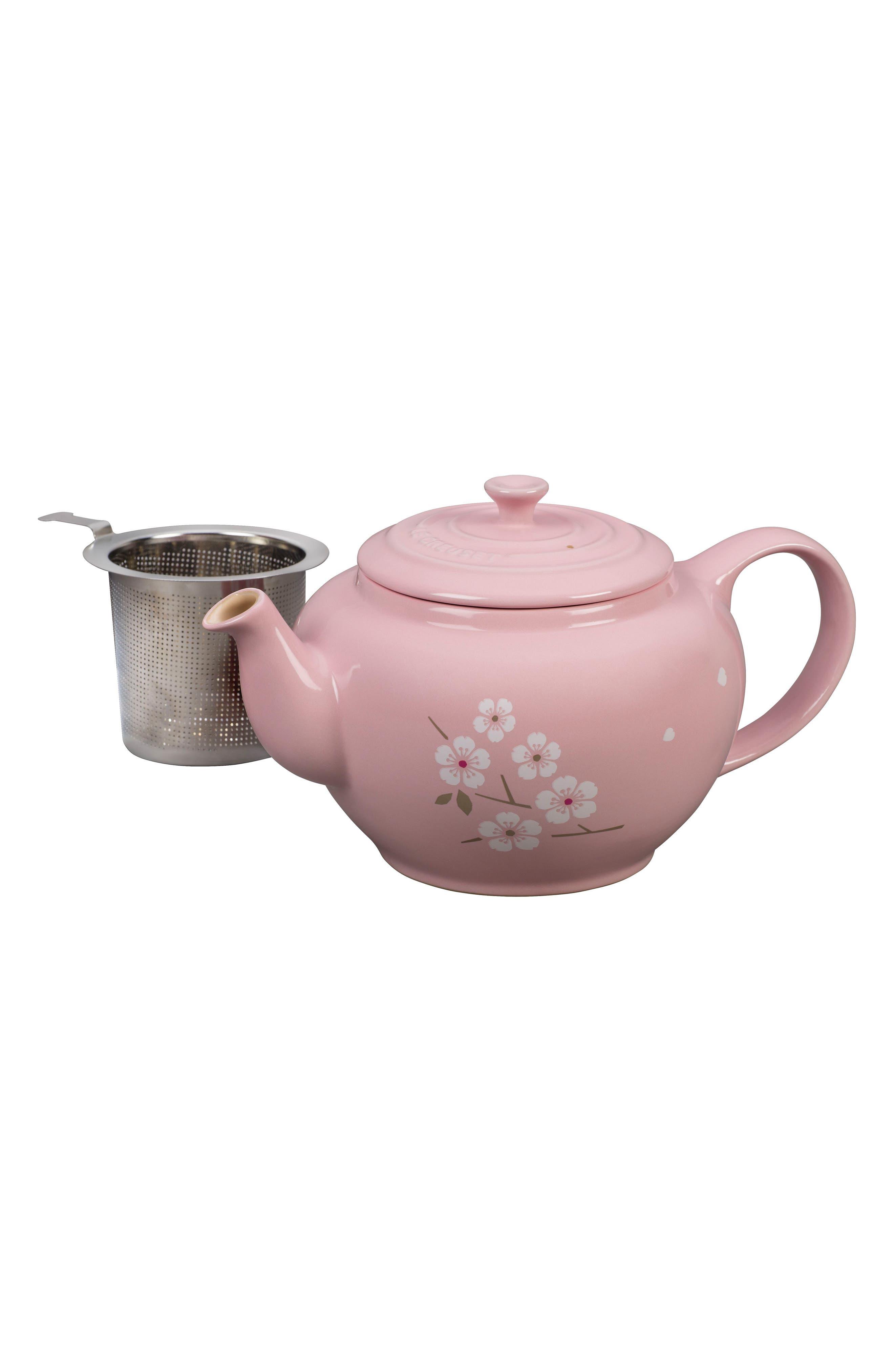 Sakura 1-Quart Stoneware Teapot,                             Alternate thumbnail 3, color,                             650