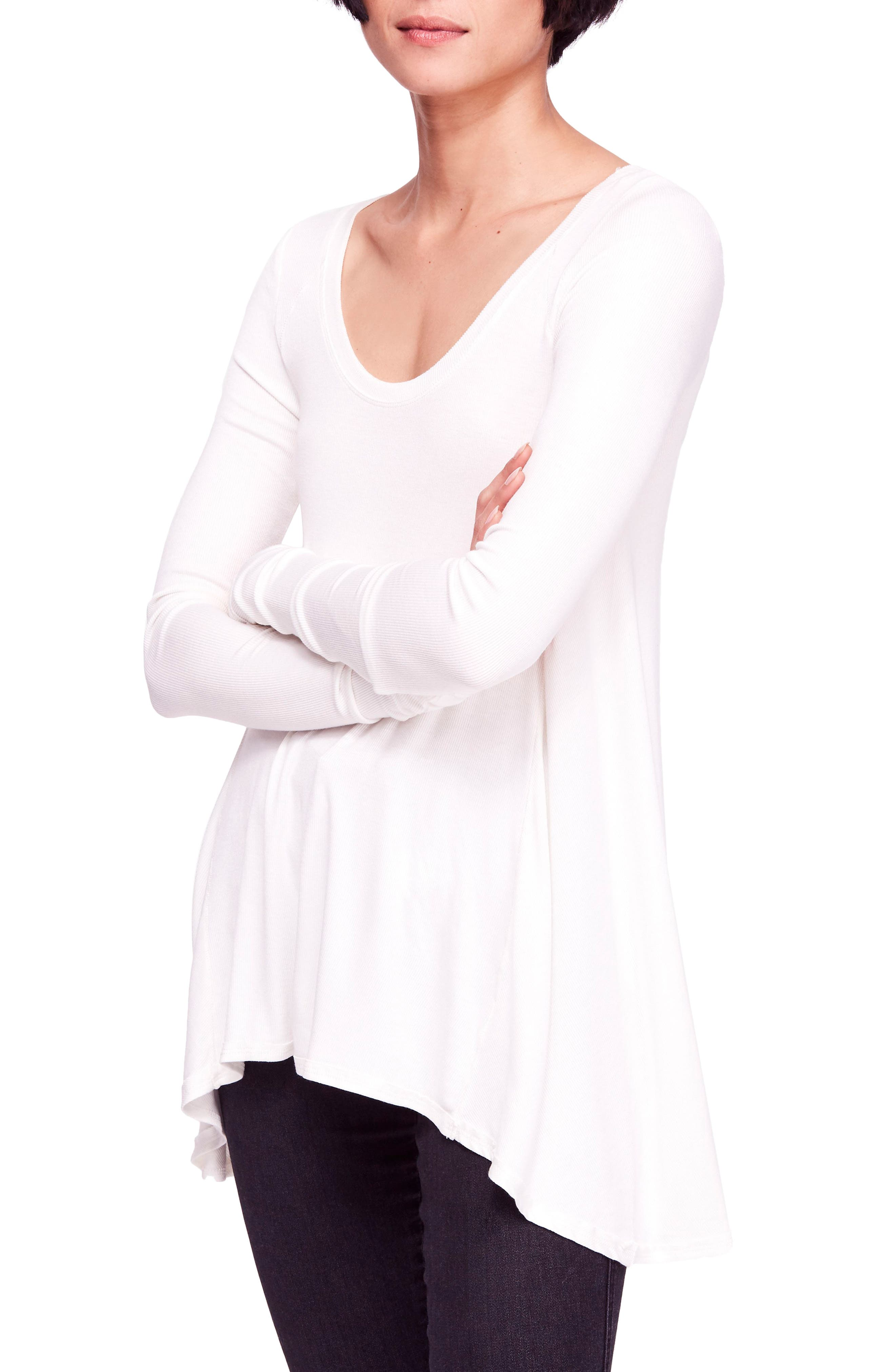 We the Free by Free People January Tee,                         Main,                         color, IVORY