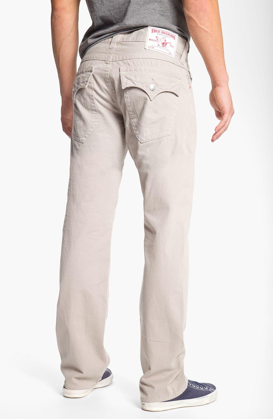 'Ricky' Straight Leg Cotton Twill Pants,                             Main thumbnail 3, color,
