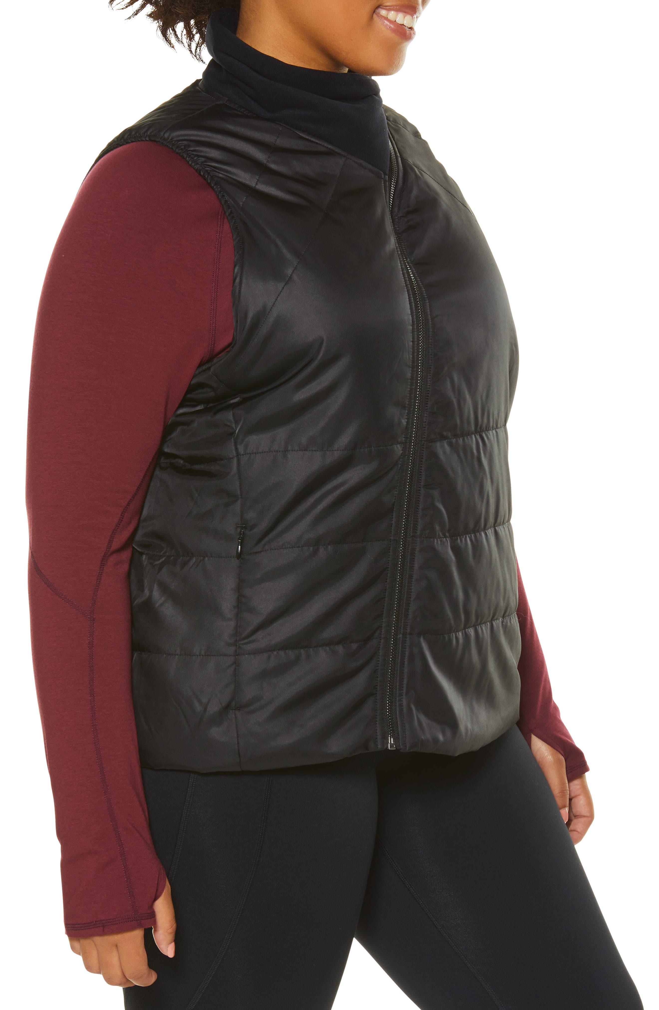 Glamour Puffer Vest,                             Alternate thumbnail 3, color,                             BLACK