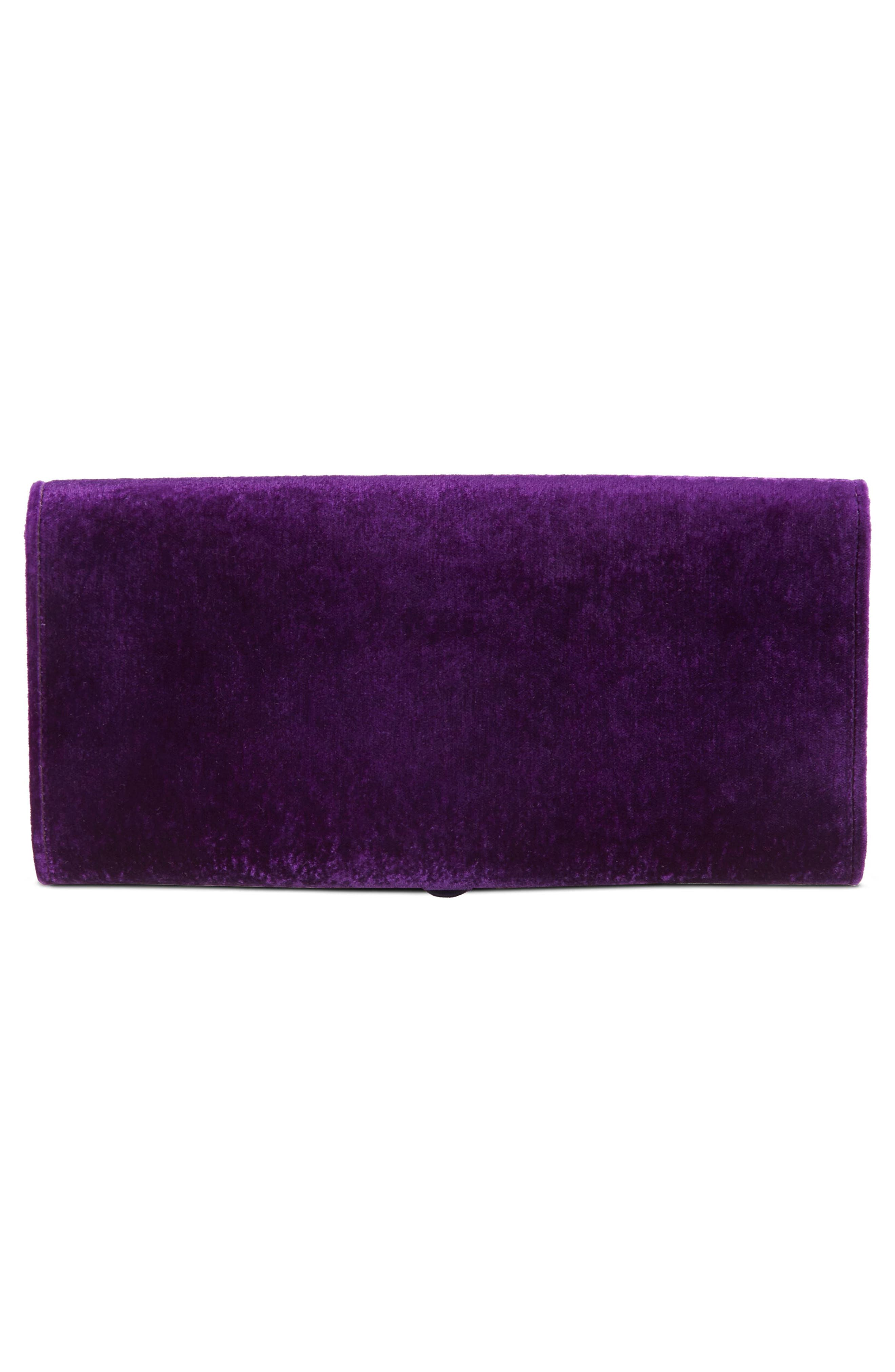 Dionysus Velvet Clutch,                             Alternate thumbnail 2, color,                             VIOLA/ BLACK DIAMOND