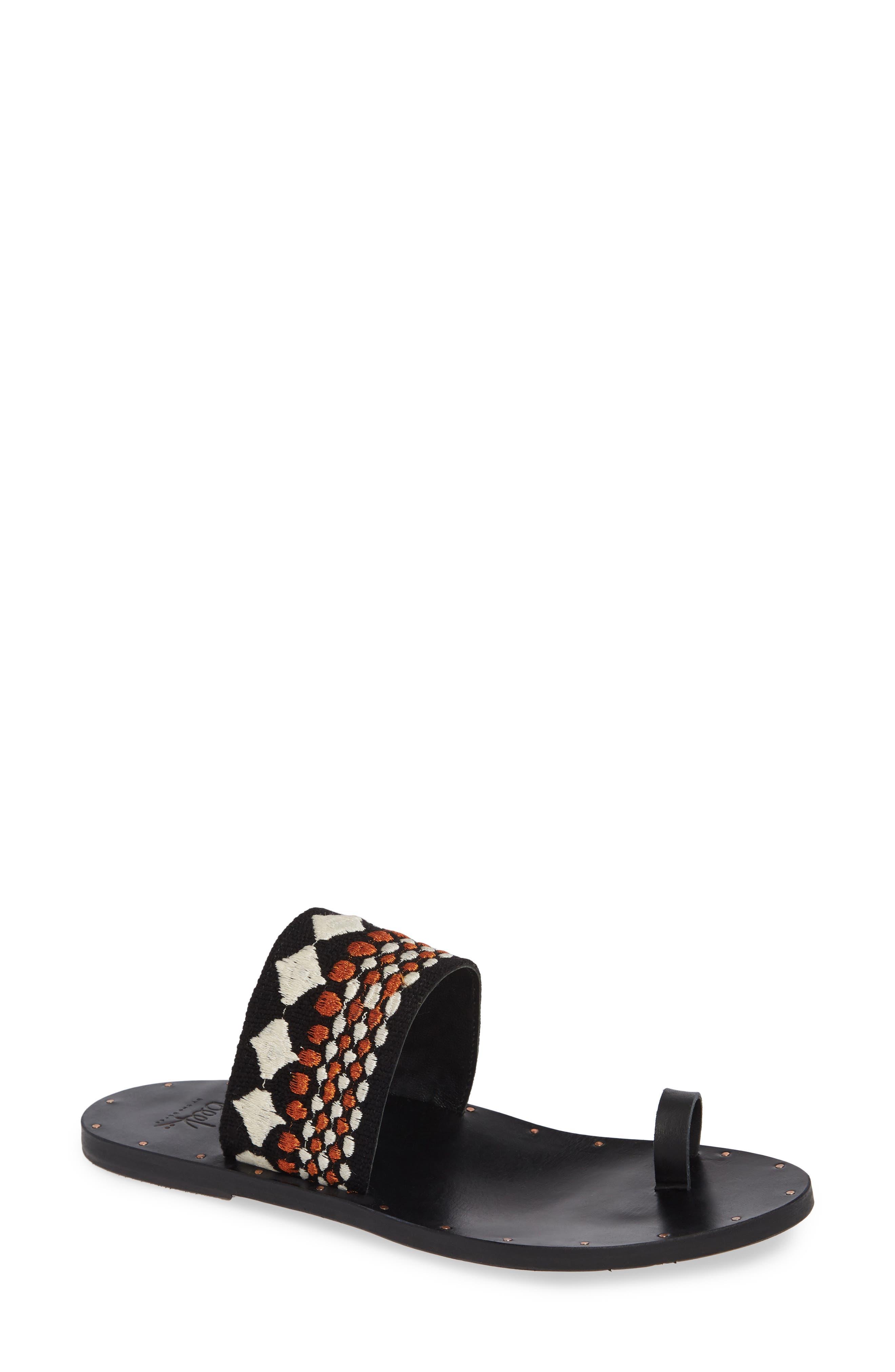 Dove Sandal in Black/ Copper/ Black